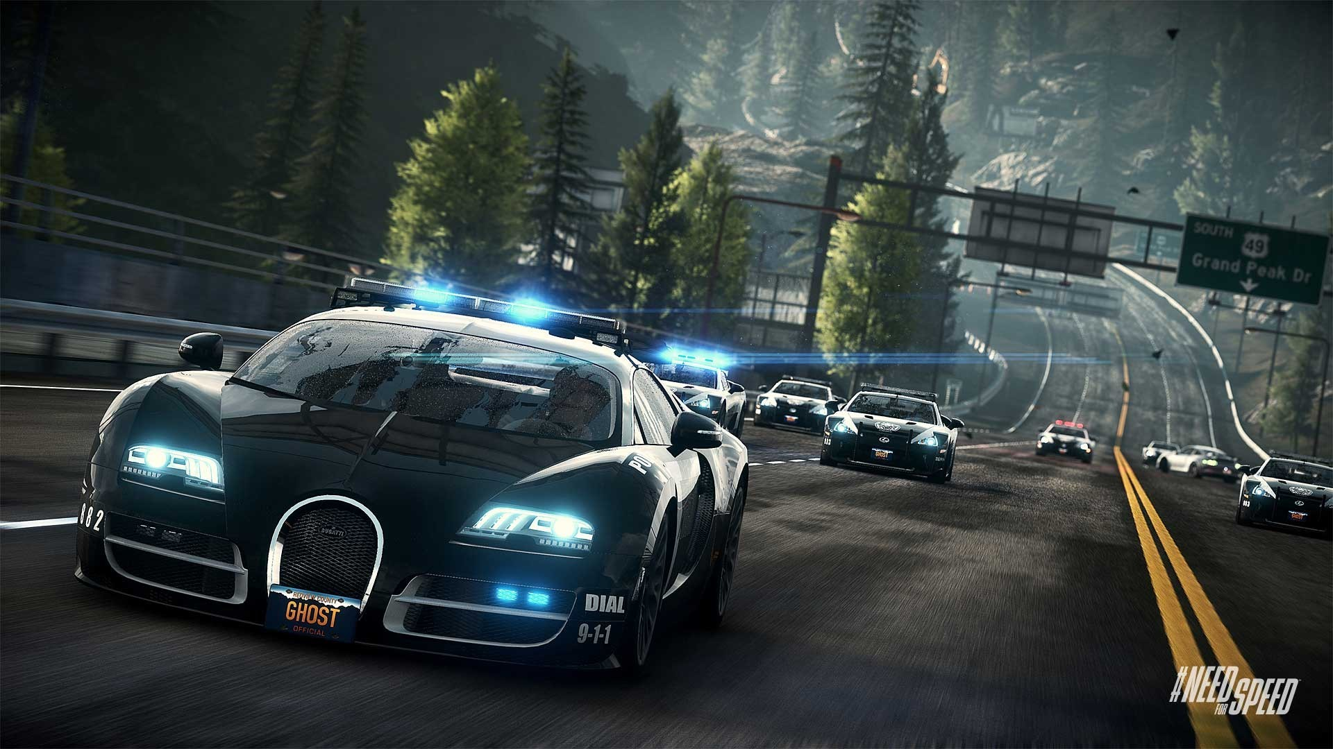 Res: 1920x1080, Need for Speed Rivals Bugatti Cop Car Wallpaper