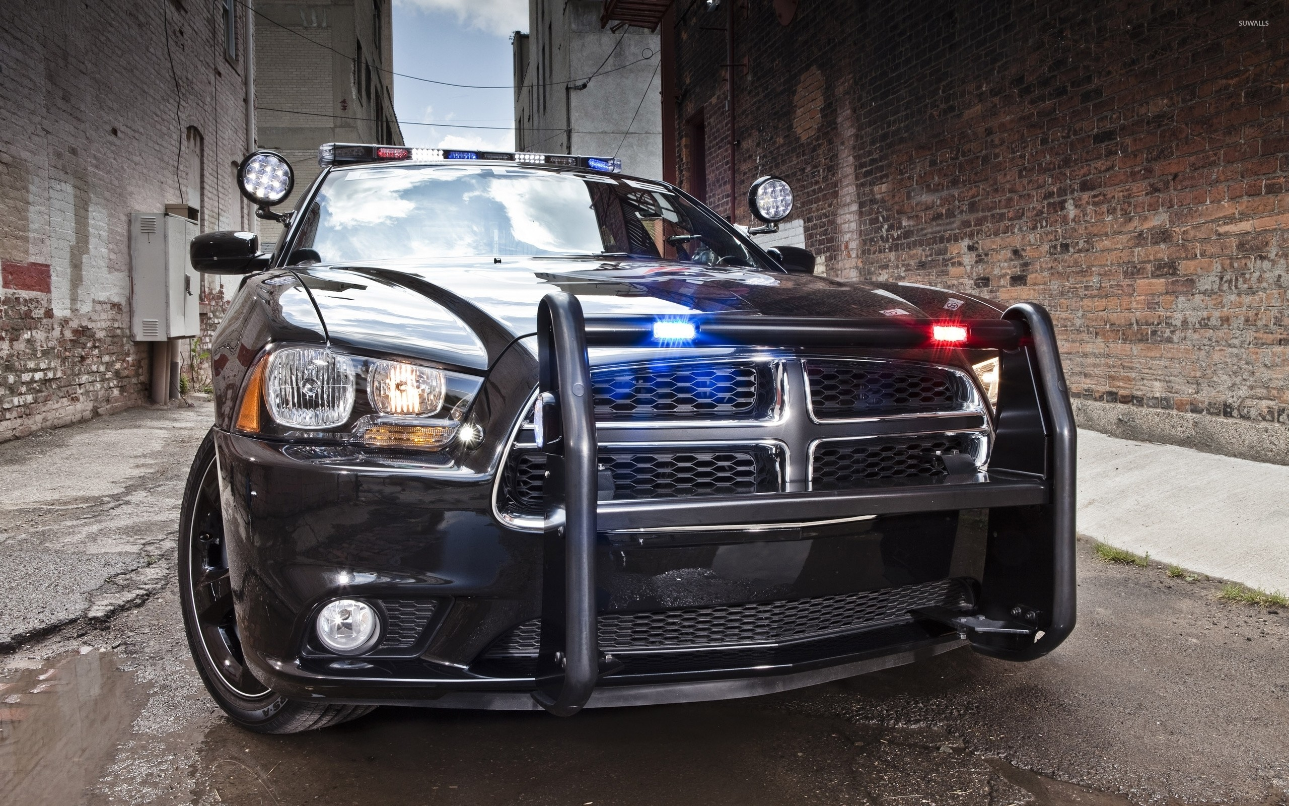 Res: 2560x1600, Dodge Charger police car [2] wallpaper
