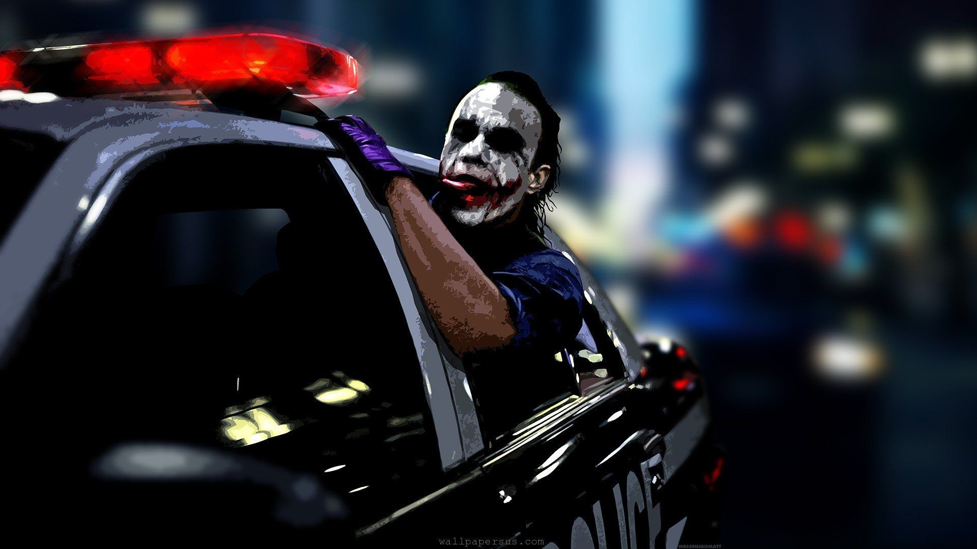 Res: 1920x1080, Joker Police Car Wallpaper