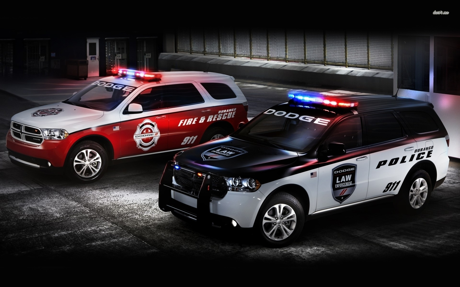 Res: 1920x1200, ... Dodge Durango police and fire rescue cars wallpaper  ...