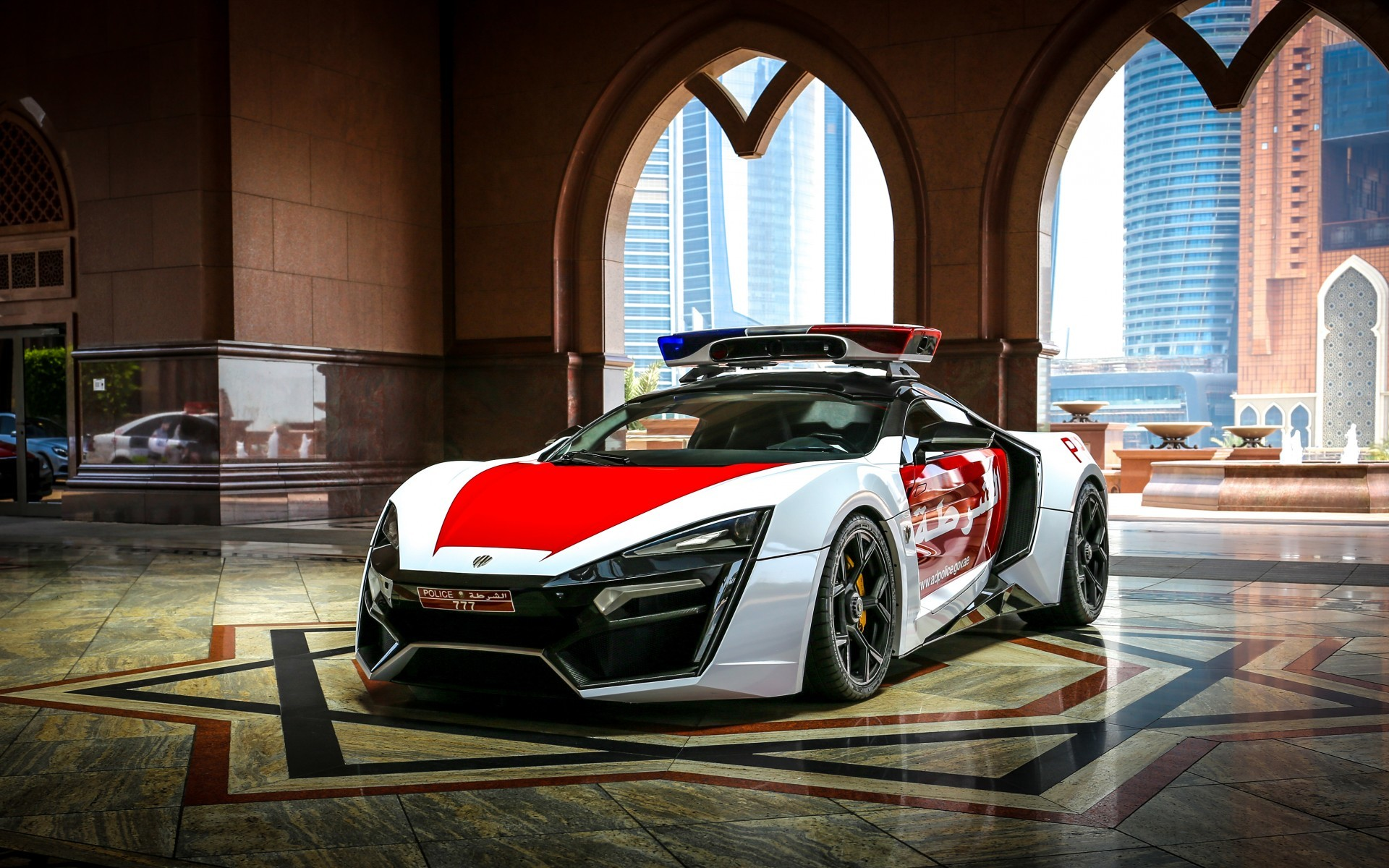 Res: 1920x1200, lykan hypersport police car abu dhabi 4k UHD wallpaper