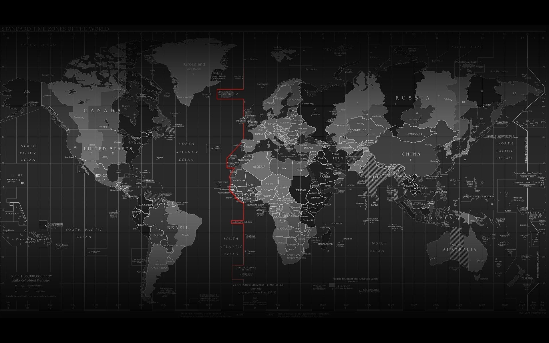 Res: 1920x1200, World Map with Time Zones HD Widescreen Wallpapers