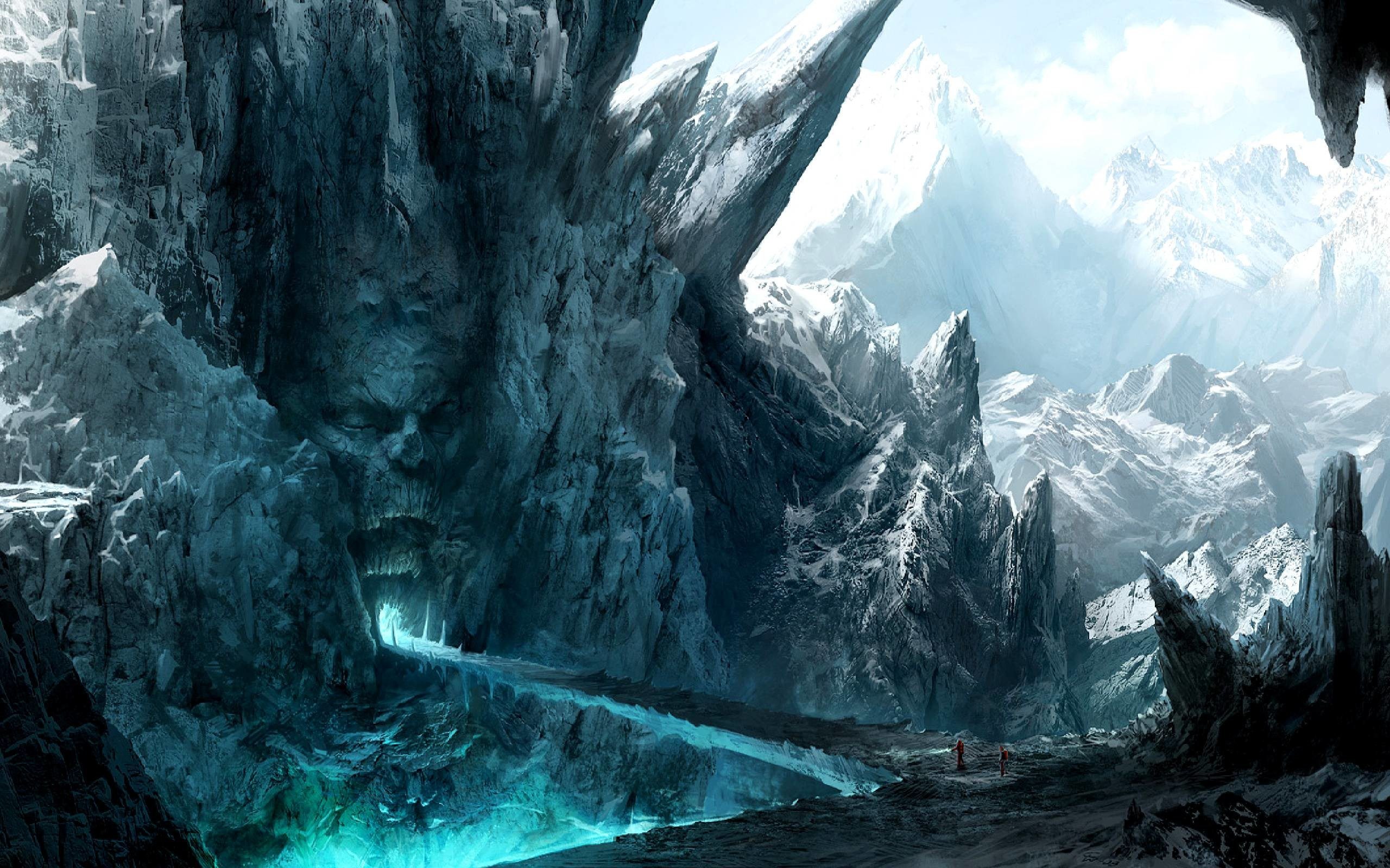 Res: 2560x1600, Epic Fantasy Wallpaper Dark Widescreen