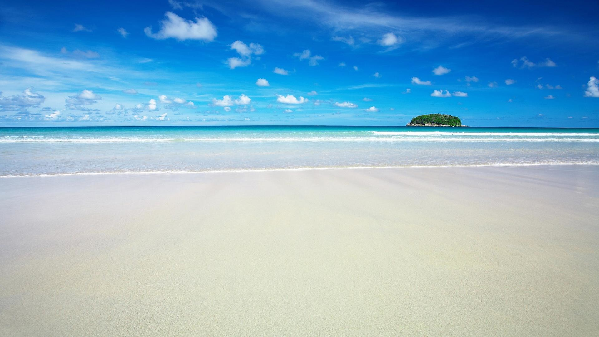 Res: 1920x1080,  beach and sea in summer backgrounds wide wallpapers:1280x800,1440x900,1680x1050  -