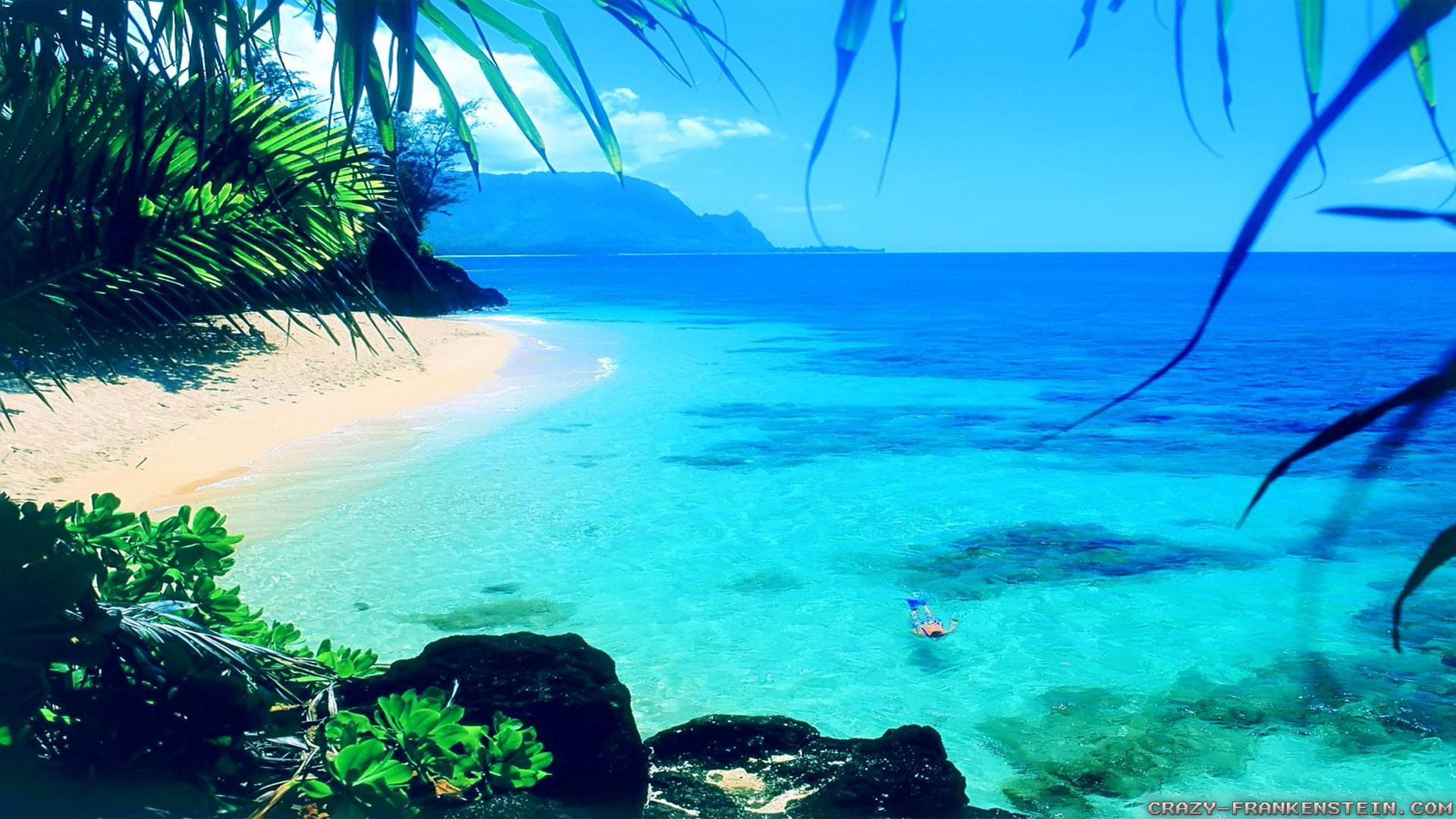 Res: 1920x1080, Beach Summer Backgrounds Wallpapers - HD Wallpapers
