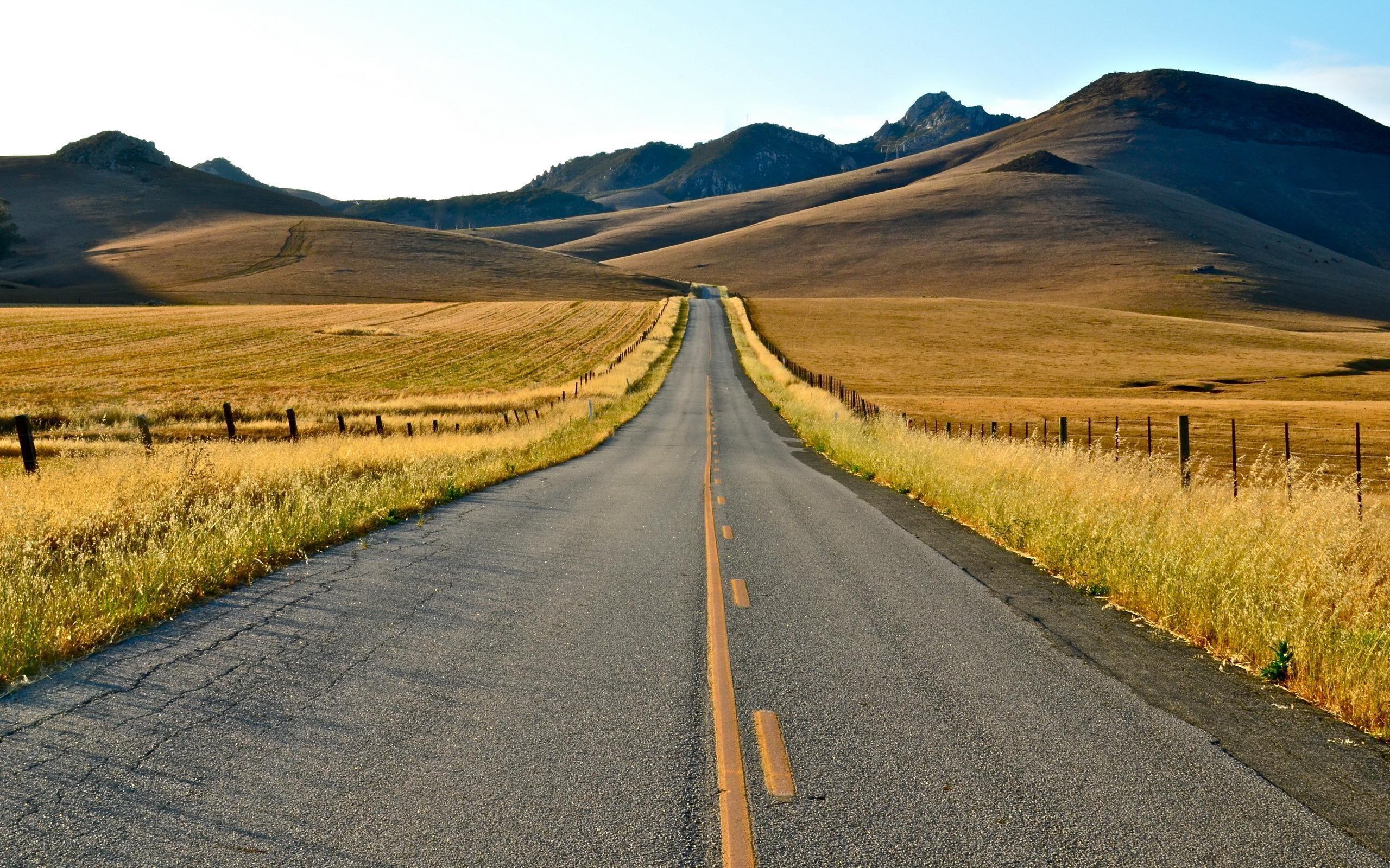 Res: 2560x1600, Road Landscape Summer Background