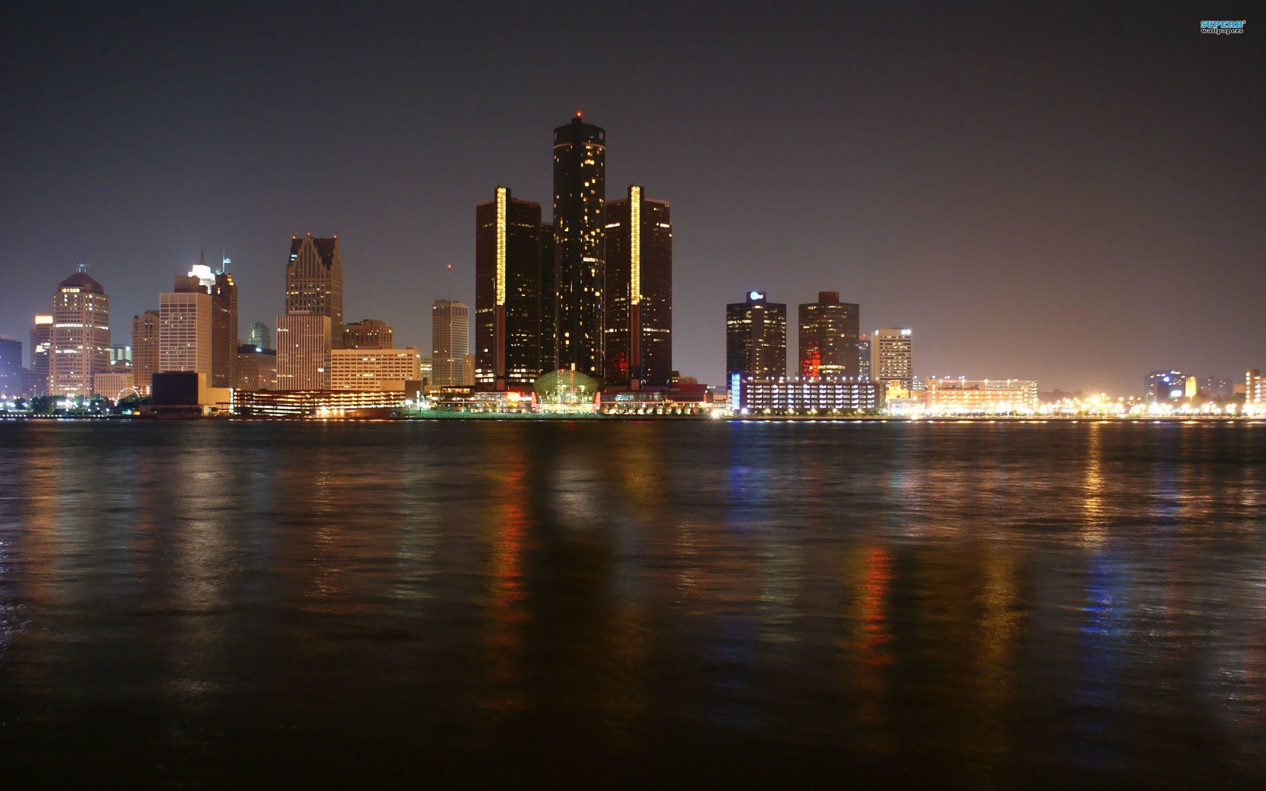 Res: 2560x1600, Detroit Skyline wallpaper - World wallpapers - #