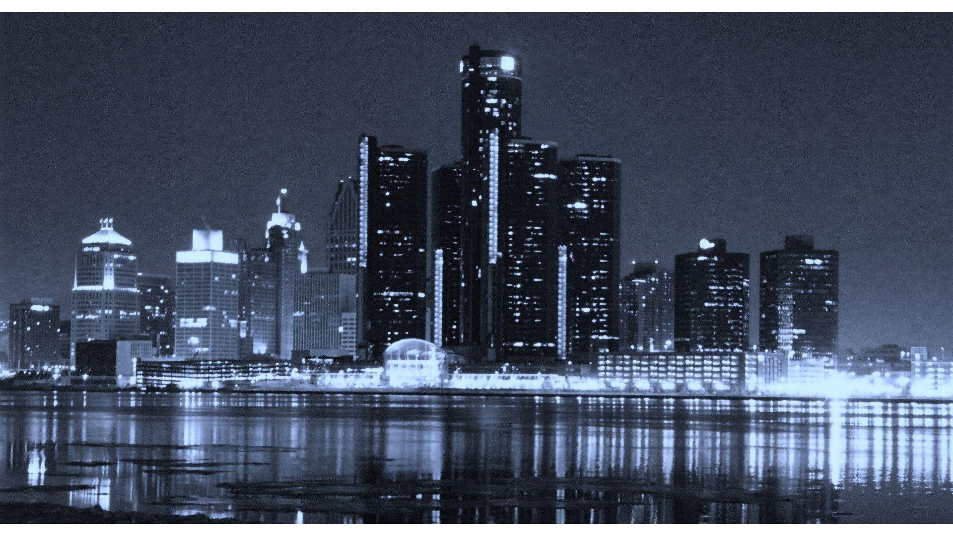 Res: 1920x1080, detroit city skyline desktop wallpaper