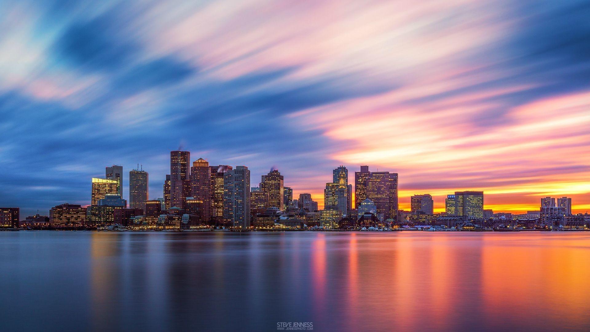 Res: 1920x1080, Boston skyline