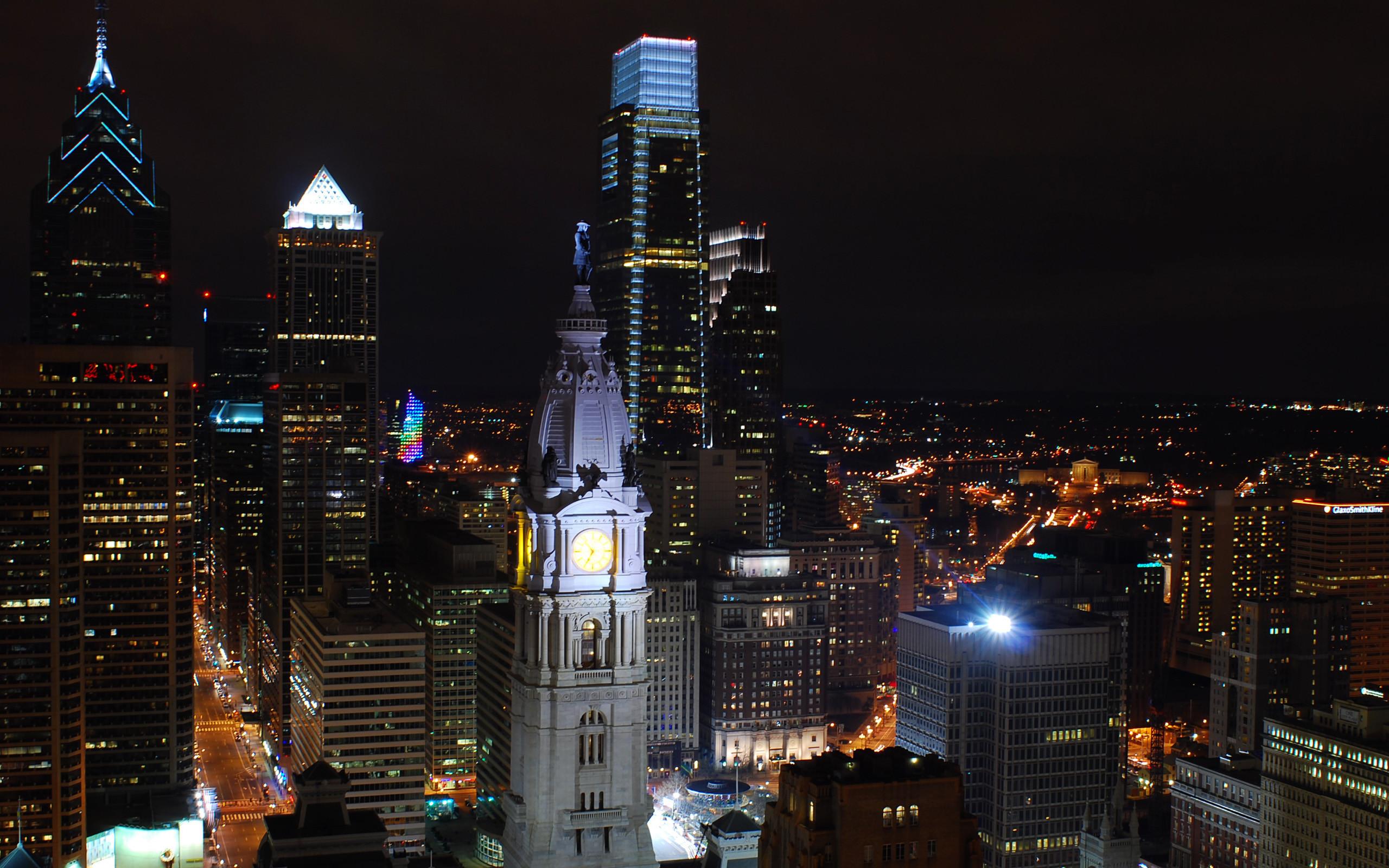 Res: 2560x1600, Philadelphia Skyline Wallpaper