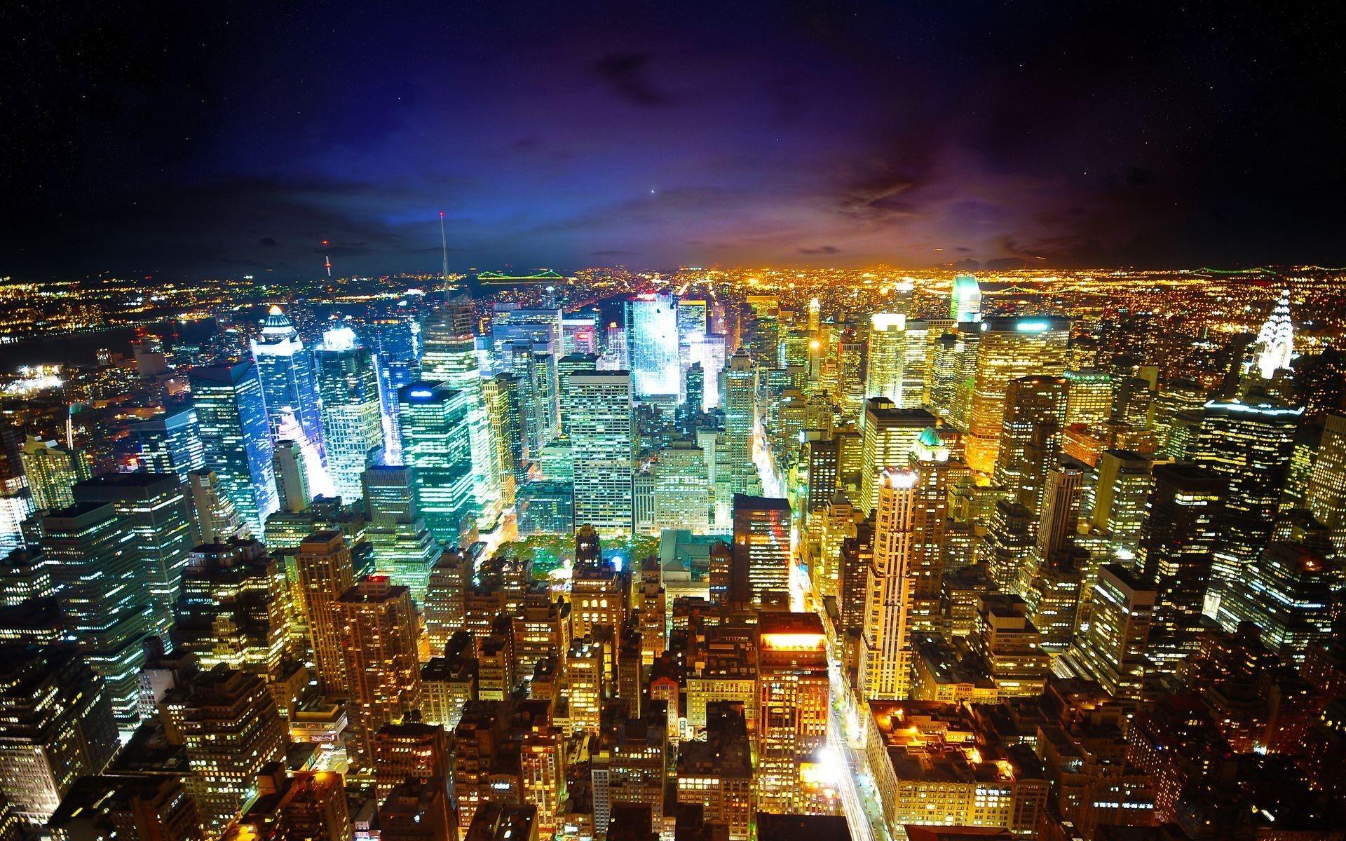 Res: 1920x1200, Stunning City Lights Wallpaper
