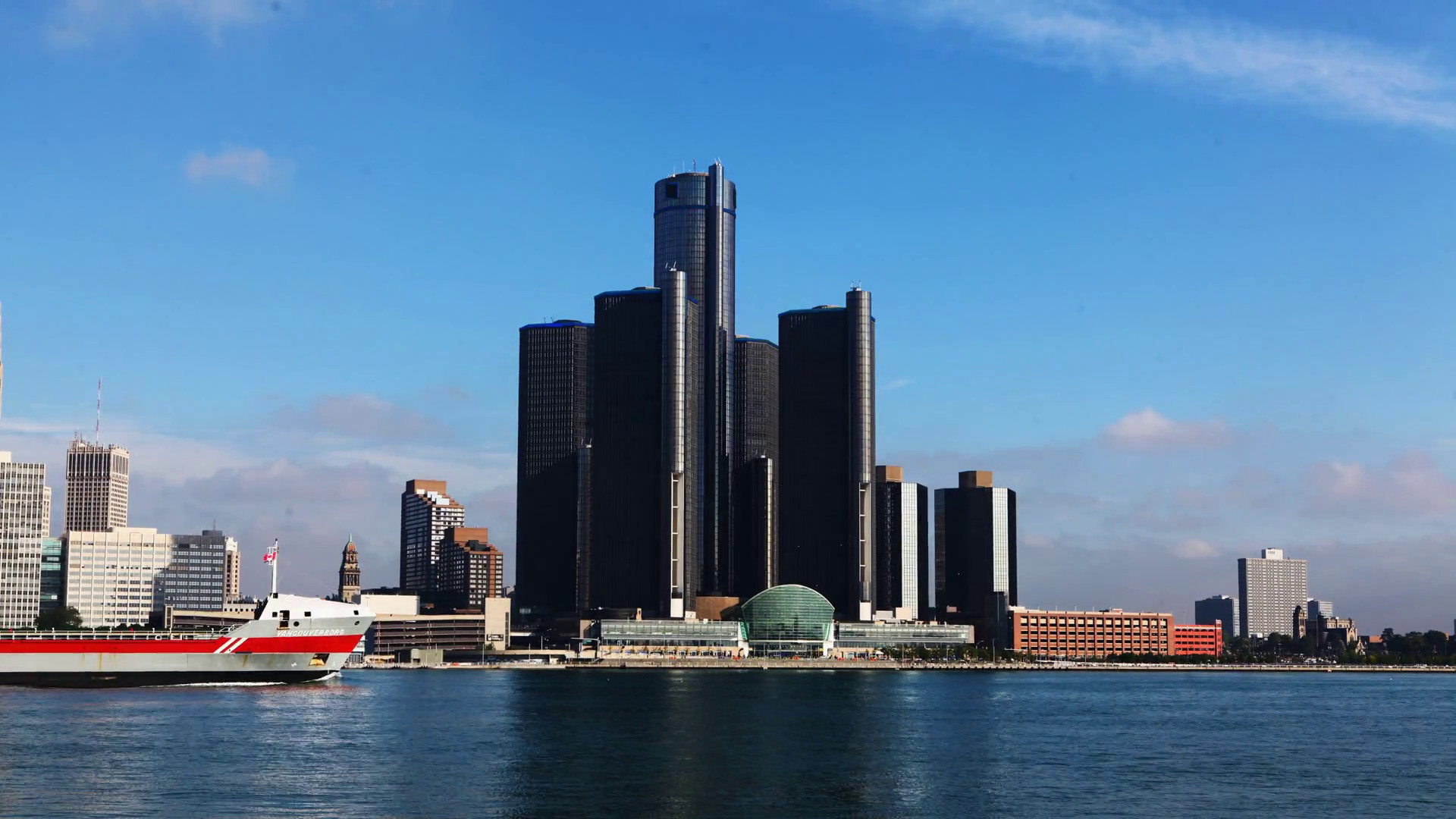Res: 1920x1080, 4K UltraHD A Timelapse of the Detroit skyline across the river Stock Video  Footage - Videoblocks