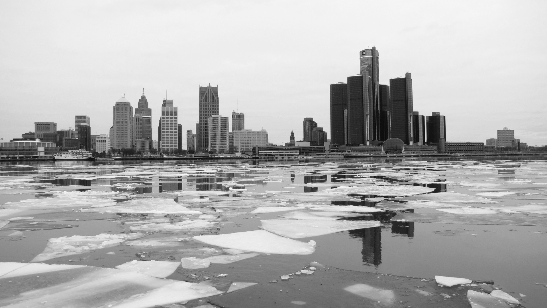Res: 1920x1080, icy-detroit-river