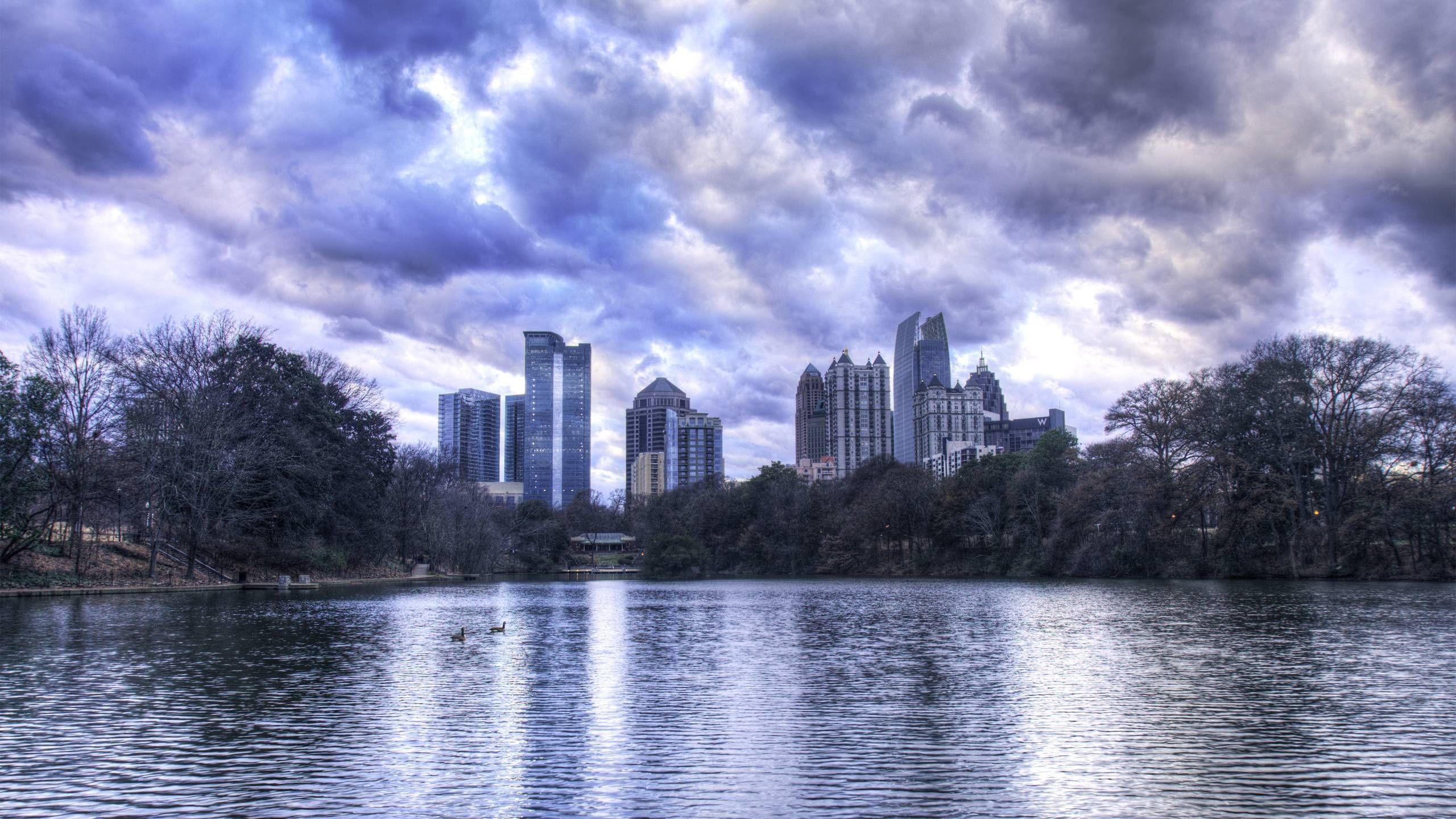 Res: 2560x1440, Atlanta Ga Skyline Wallpaper | Download Wallpapers