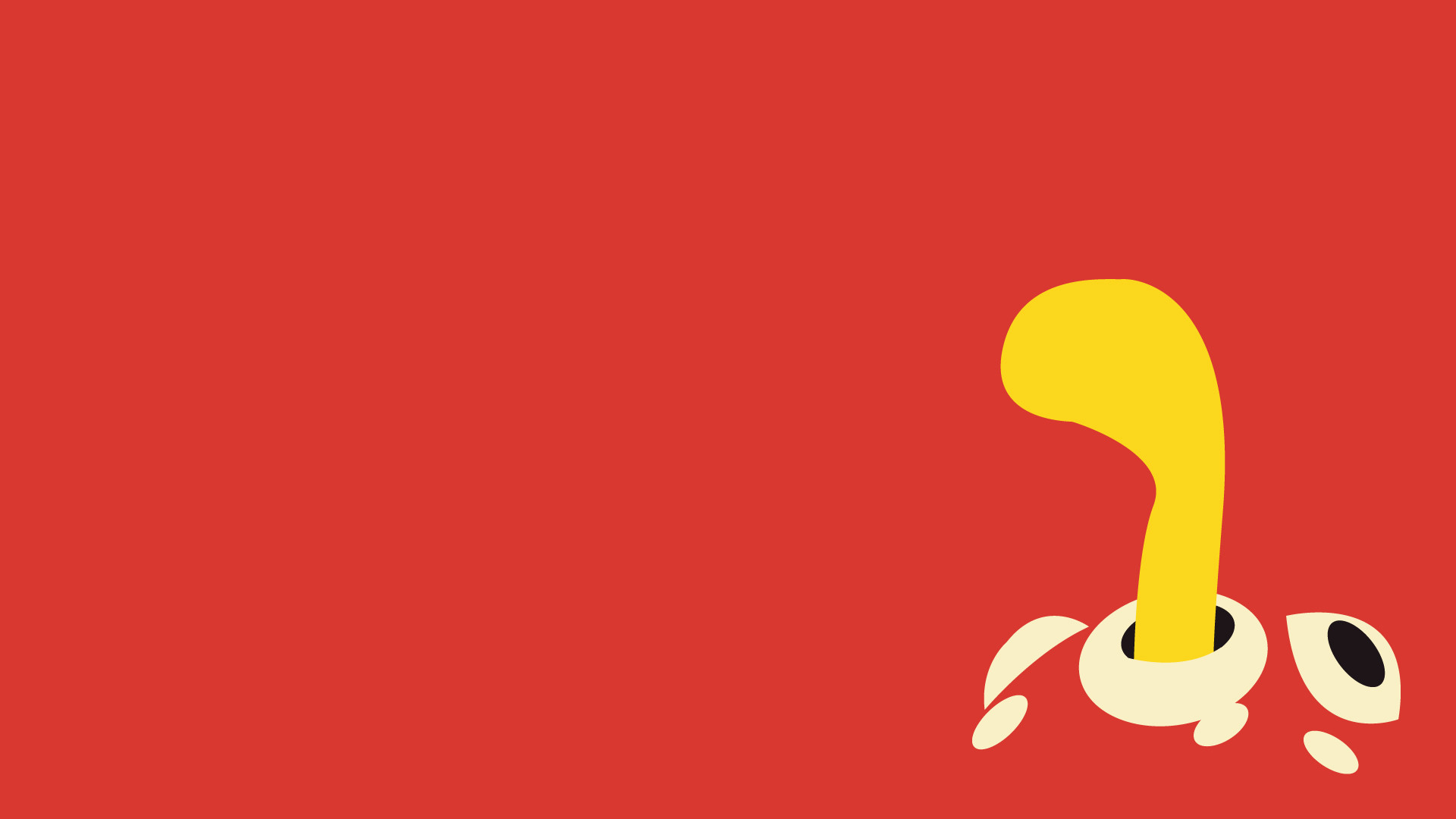 Res: 1920x1080, Shuckle, Minimalism, Red Background wallpaper thumb