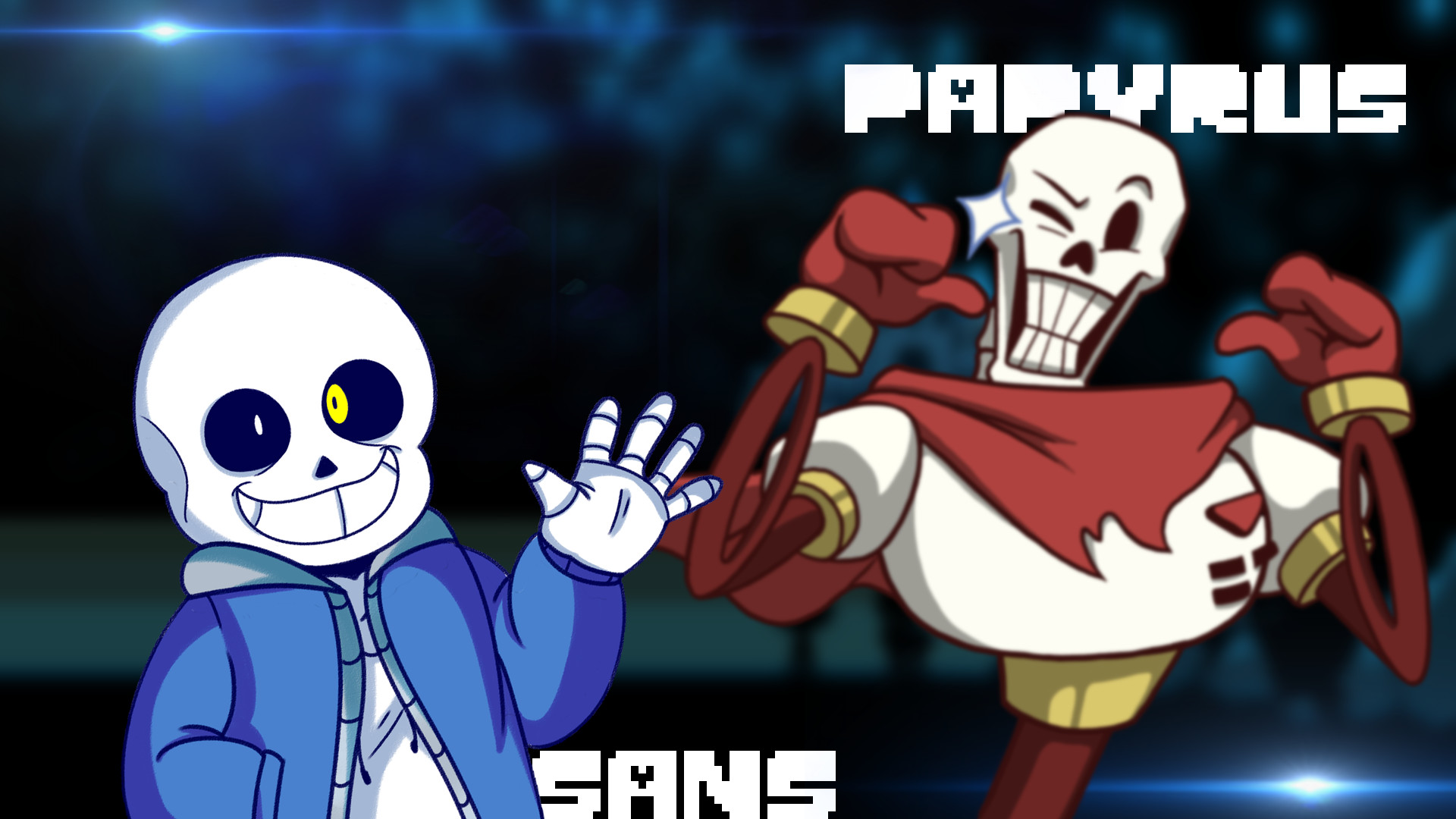 Res: 1920x1080, ... Undertale Sans and Papyrus Wallpaper by Candy-C4n3