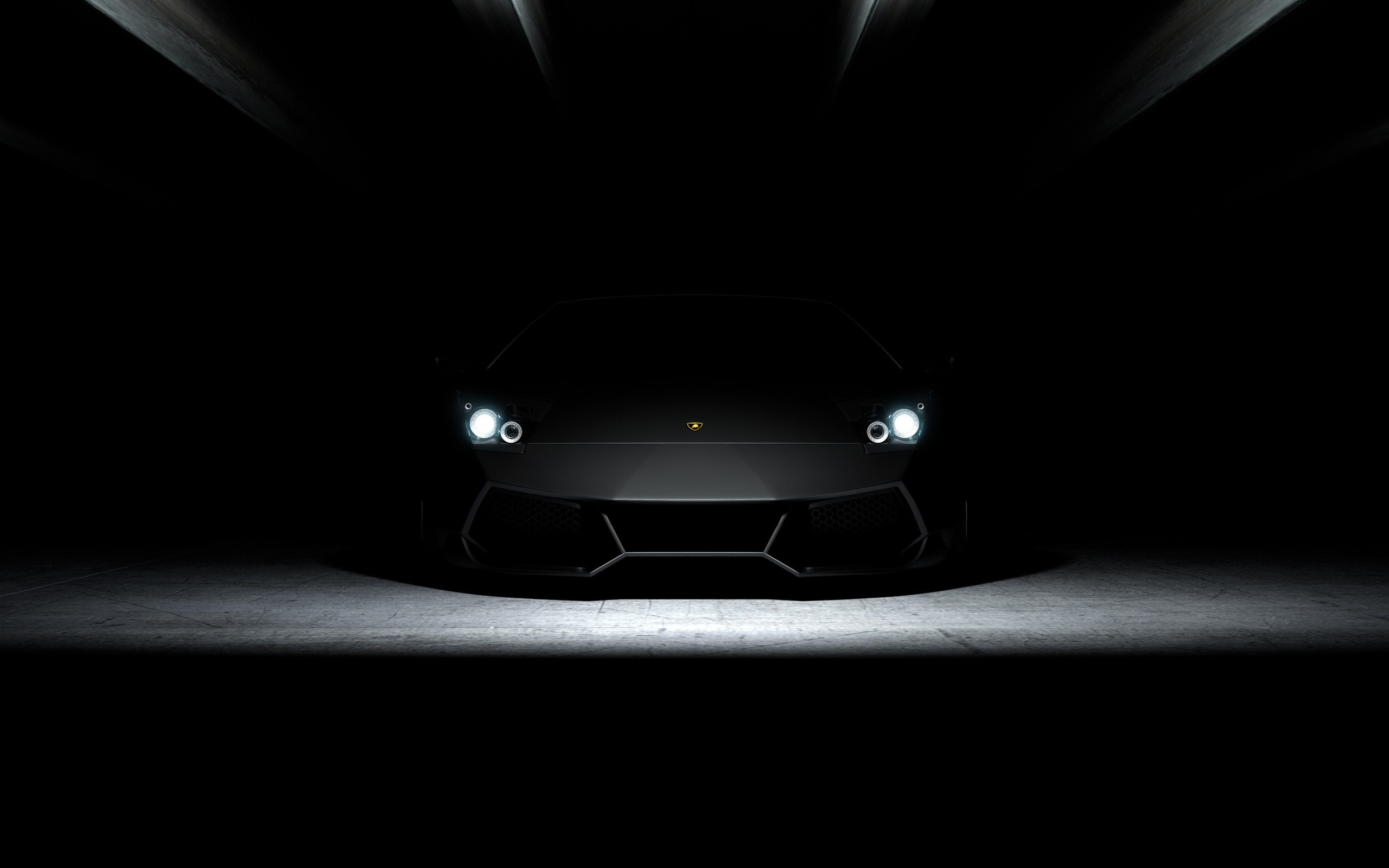 Res: 2560x1600, Lamborghini Aventador Black in Dark