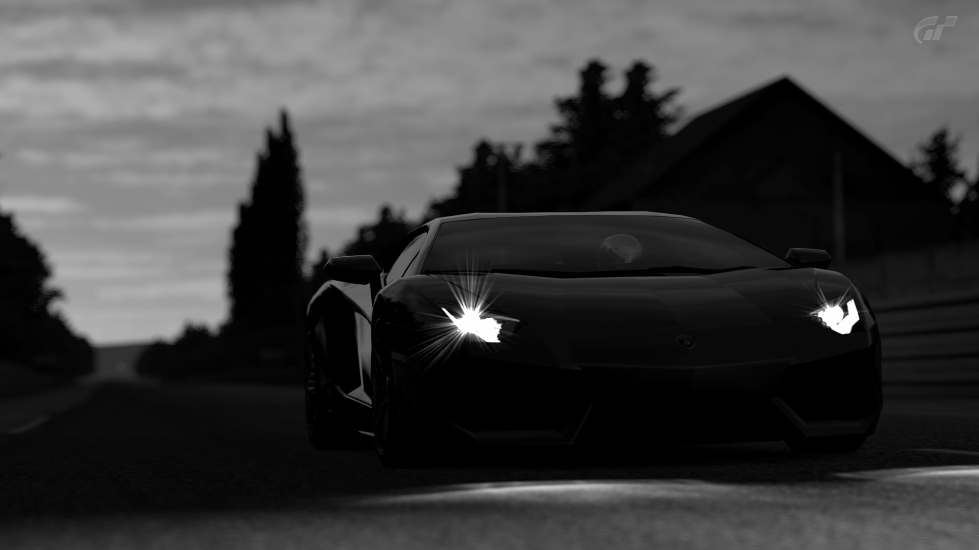 Res: 1920x1080, Dark Black Lamborghini Car Wallpaper HD Free Download