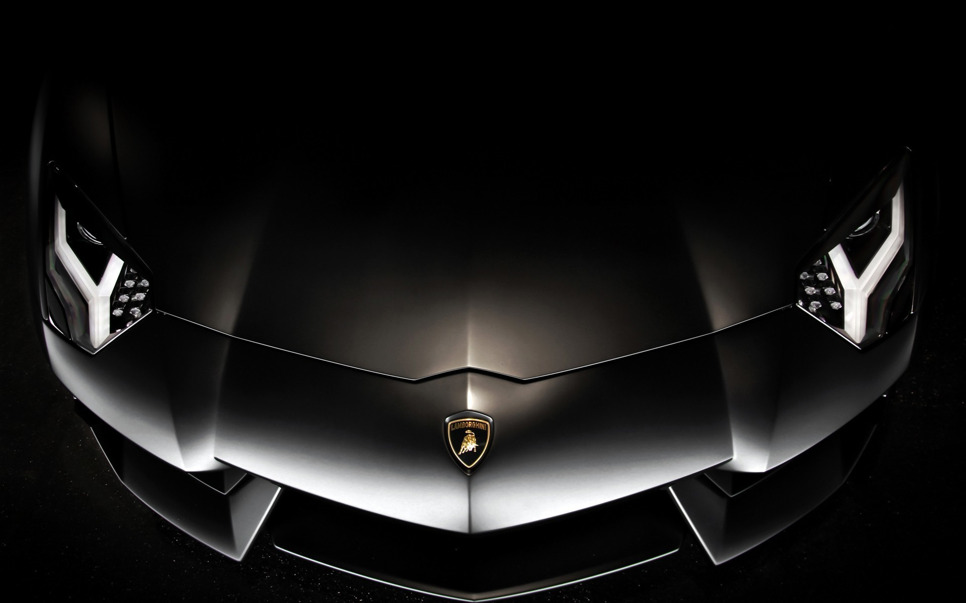 Res: 1920x1200, Black Lamborghini Aventador wallpaper HD.