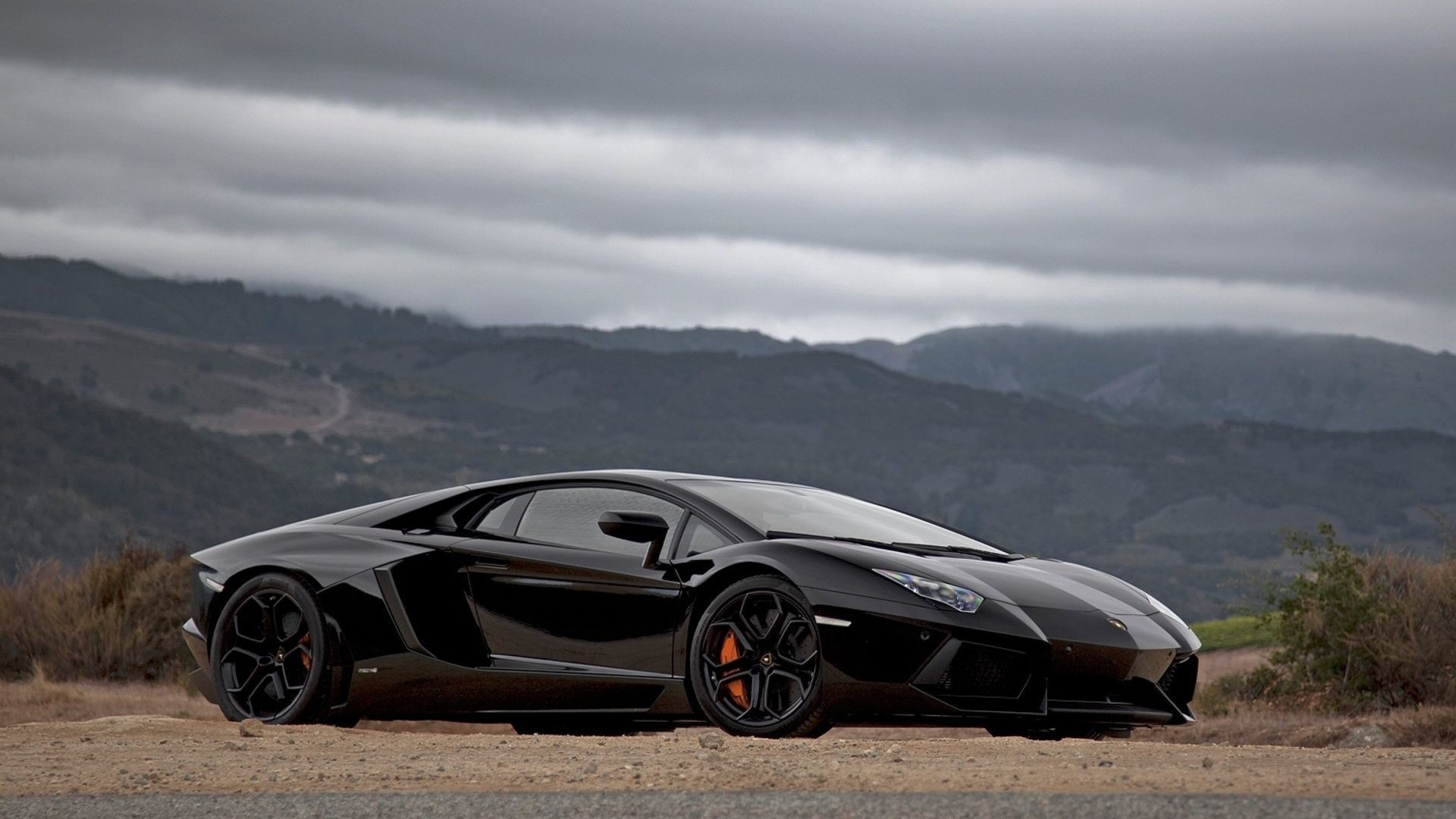 Res: 1920x1080, Lamborghini Aventador Black, why not
