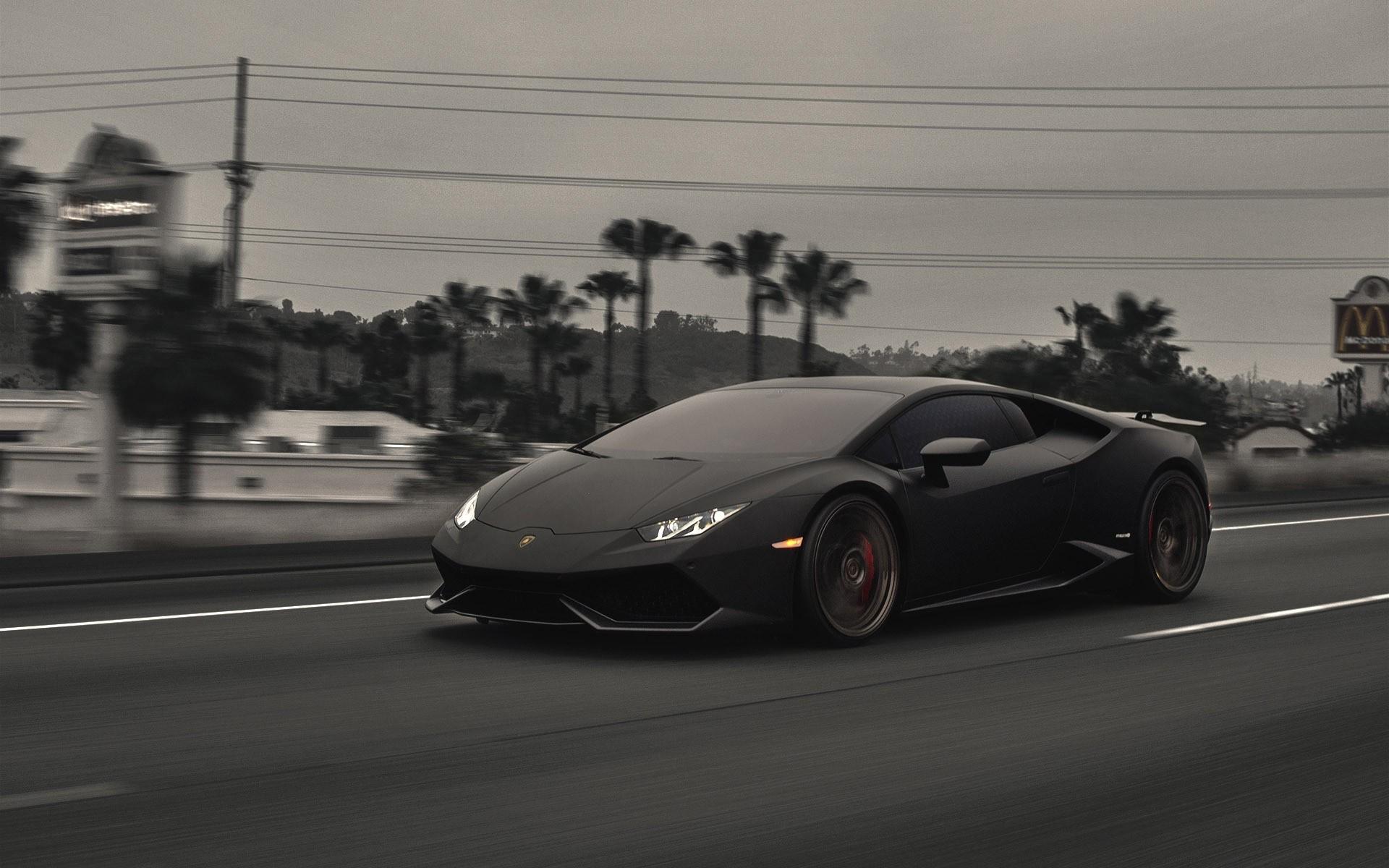 Res: 1920x1200, Black Huracan Lamborghini Car Wallpaper