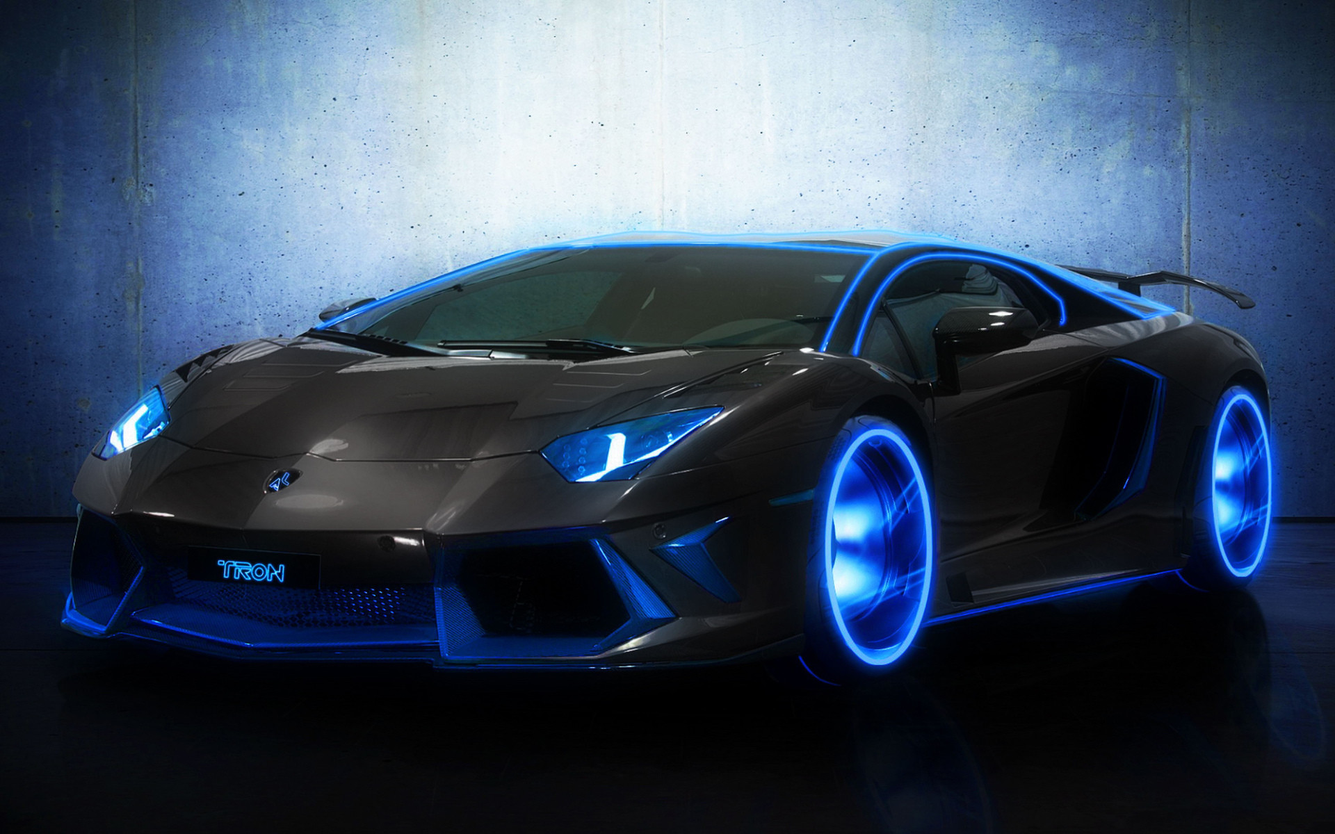 Res: 1920x1200, Blue and Black Lamborghini Aventador