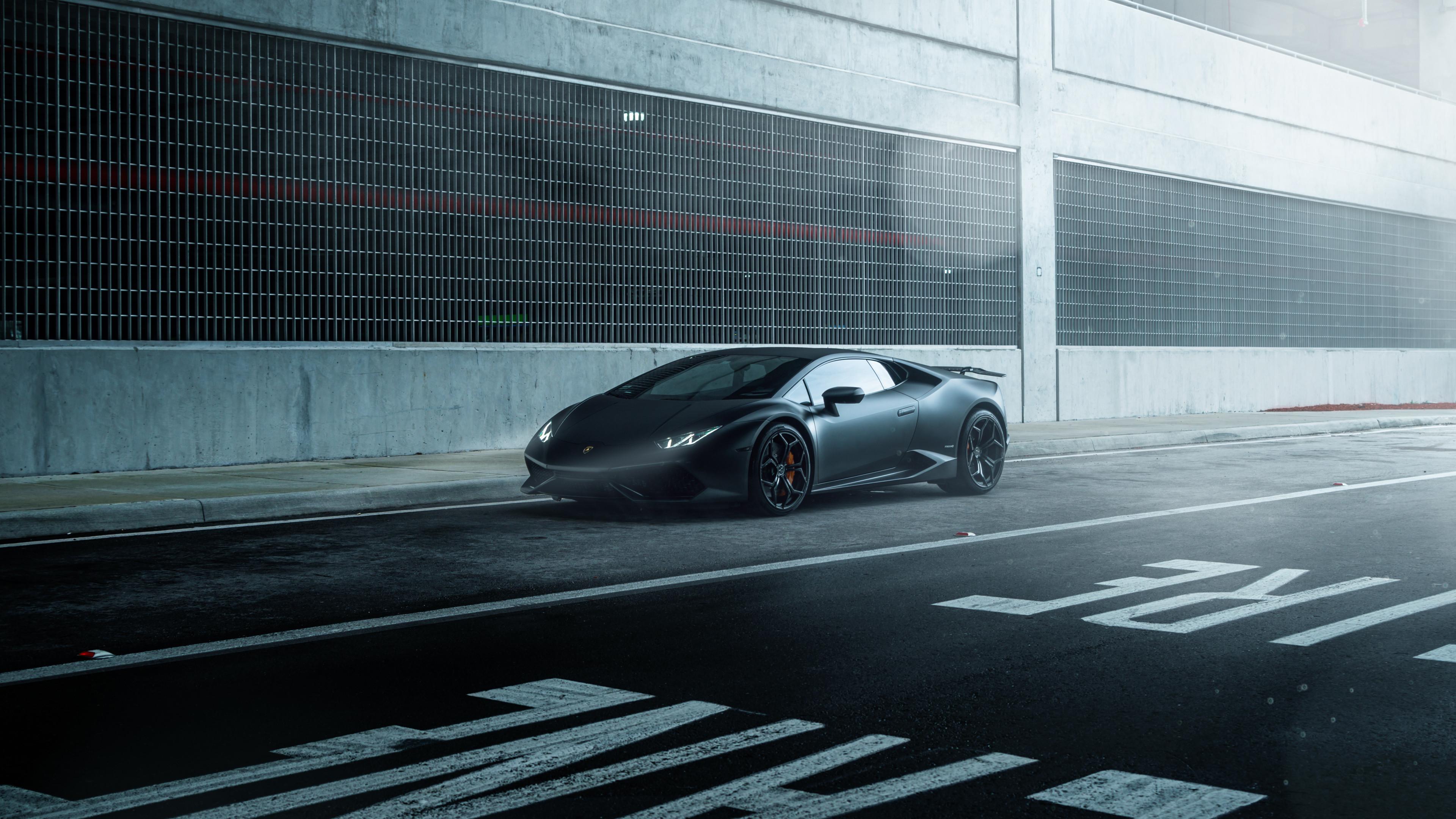 Res: 3840x2160, Author: William Stern. Tags: Black Lamborghini ...