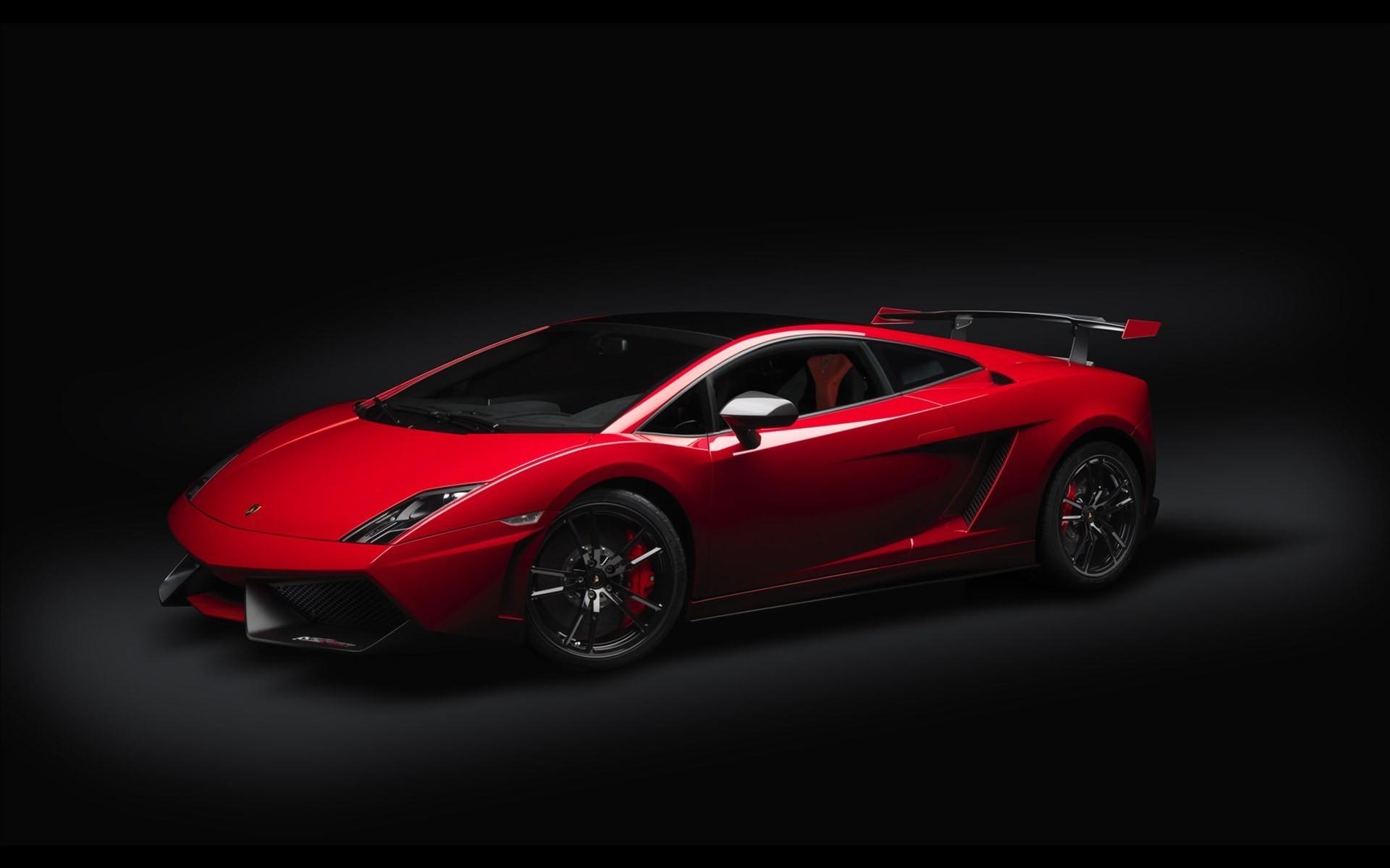 Res: 1920x1200, Lamborghini black background cars red vehicles wallpaper