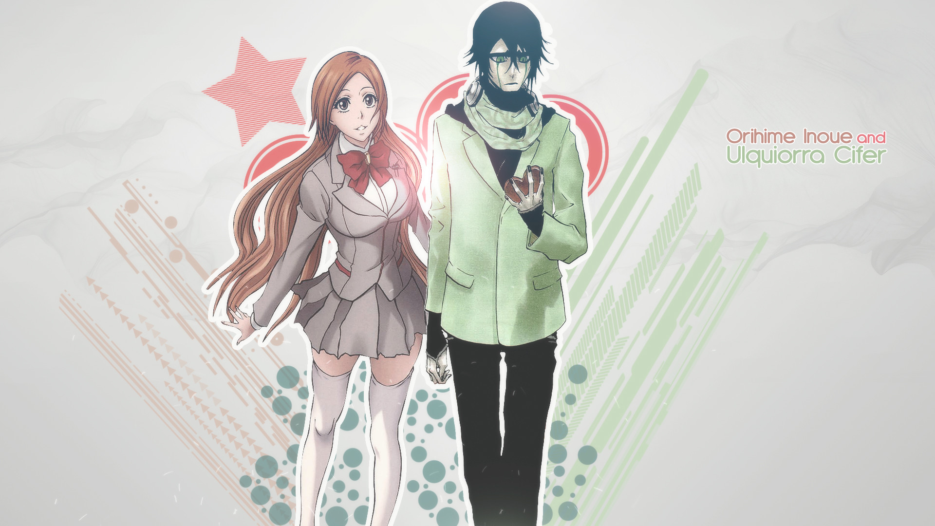 Res: 1920x1080, Orihime Inoue and Ulquiorra Cifer by JuliannMiic Orihime Inoue and  Ulquiorra Cifer by JuliannMiic