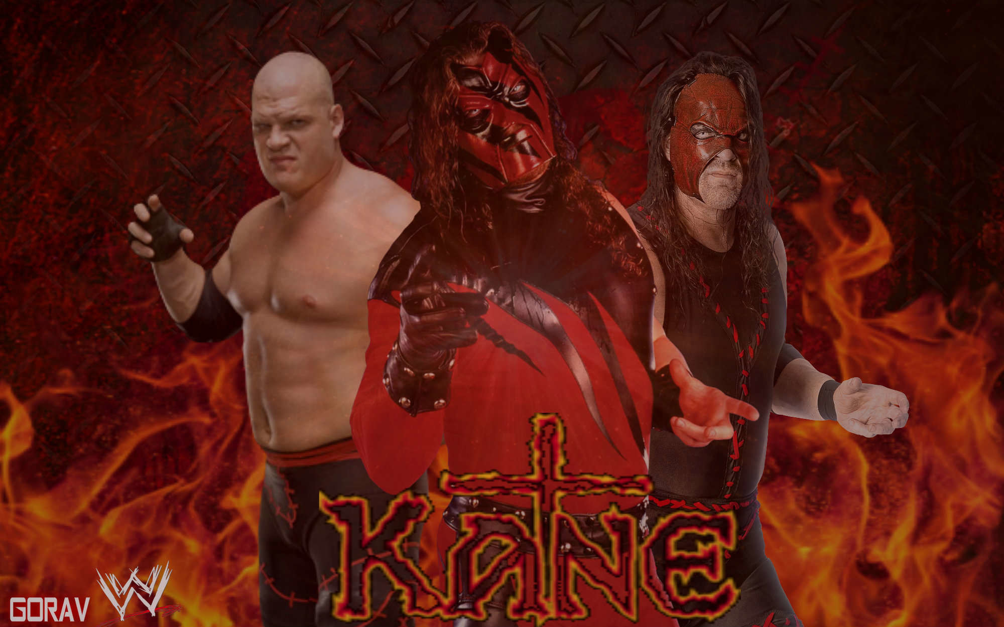 Res: 2000x1250, WF.727 WWE The Kane 2018,  WWE The Kane 2018 Wallpapers