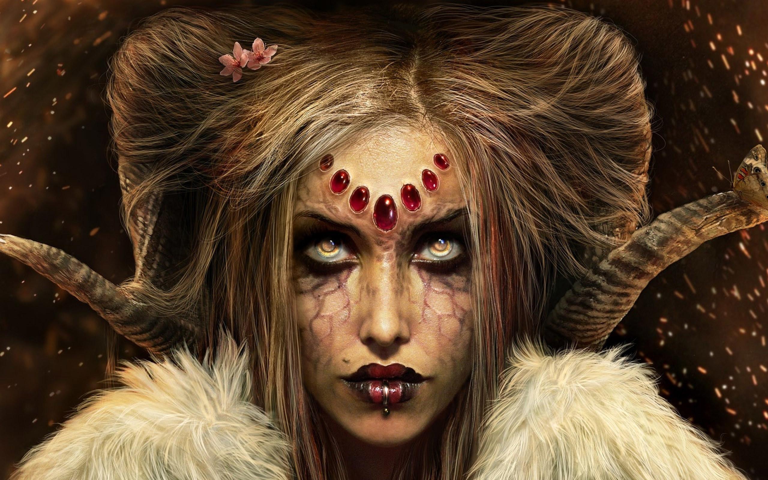 Res: 2560x1600, ... Female demon HD Wallpaper