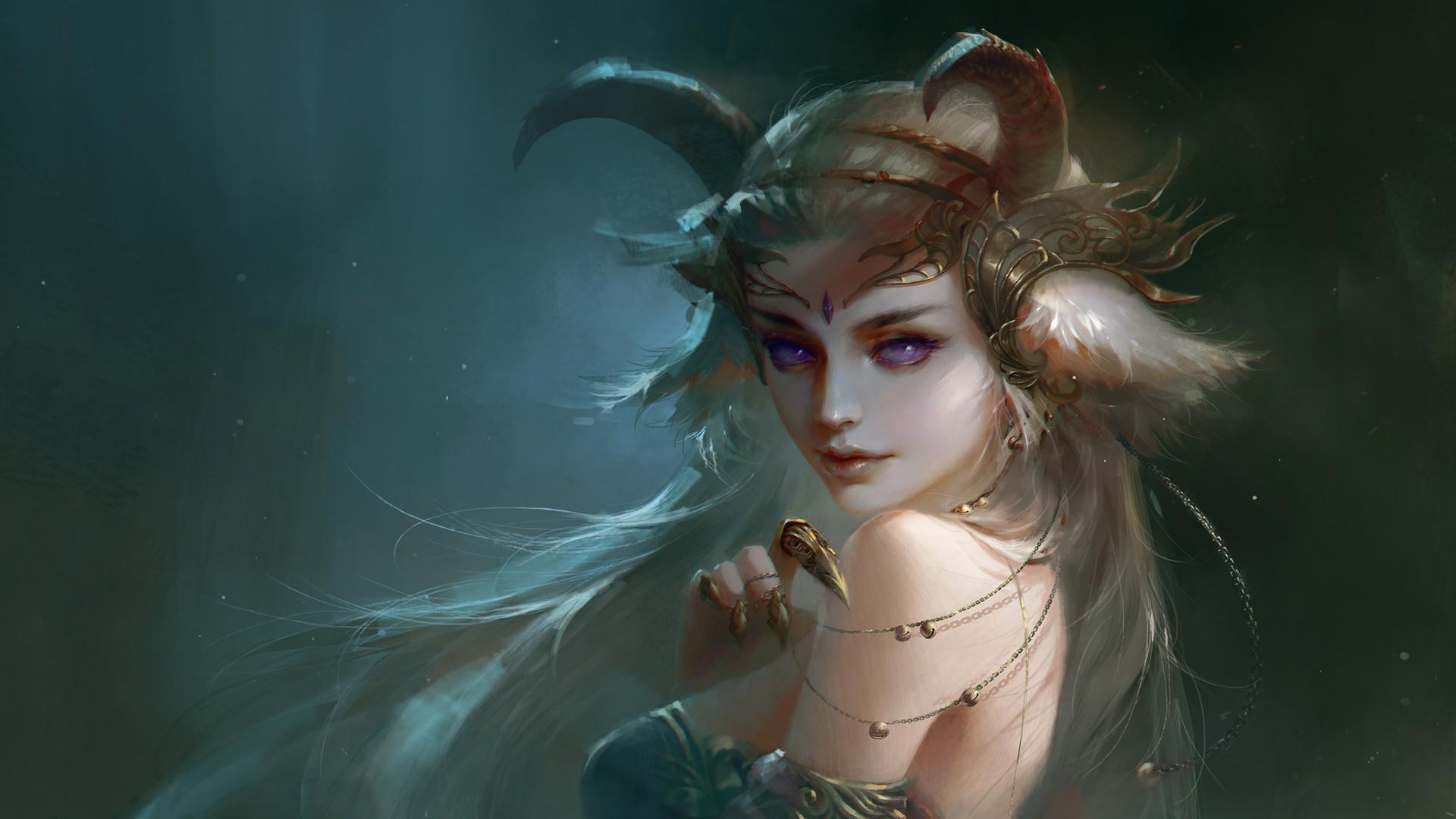 Res: 1920x1080, Demon Beautiful Girl (2048x1152 Resolution)