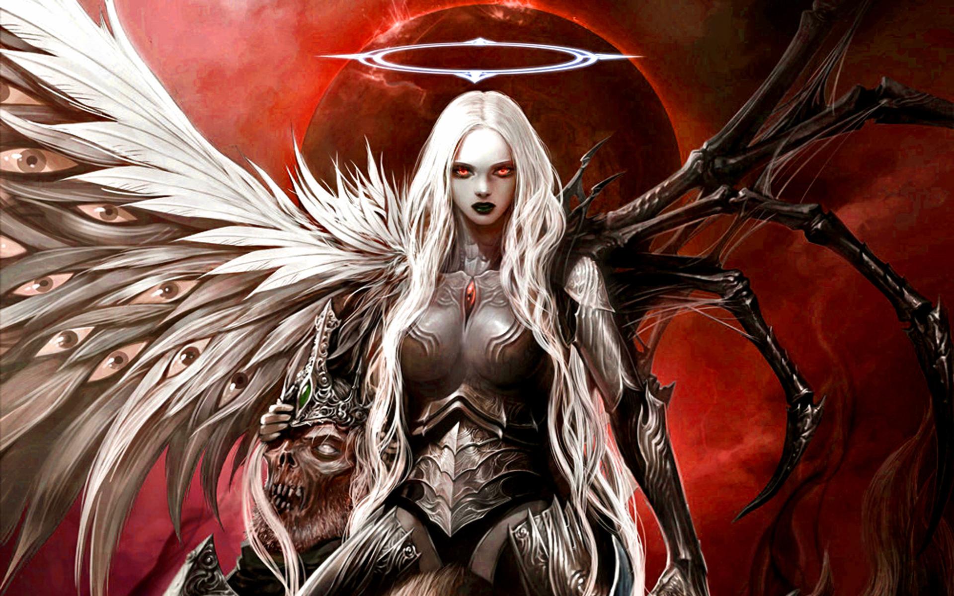 Res: 1920x1200, Angel dark demon fantasy skull wallpaper |  | 220473 | WallpaperUP