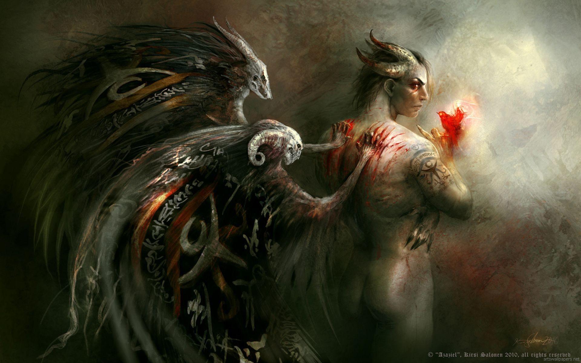 Res: 1920x1200, demonic female monsters | ... fantasy gothic evil macabre demon monster  occult blood gore wallpaper