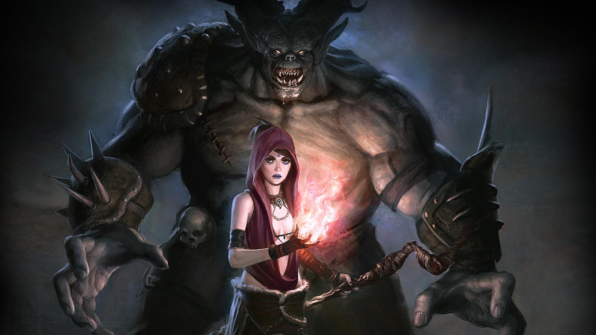 Res: 1920x1080, Computerspiele - Dragon Age: Origins Hexe Dämon Sorceress Fantasy Wallpaper