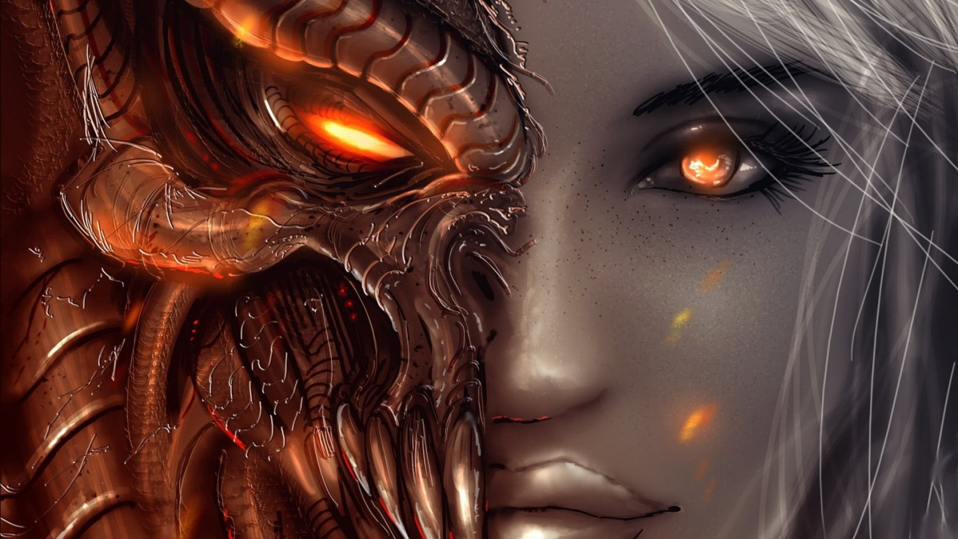 Res: 1920x1080, female character illustration HD wallpaper