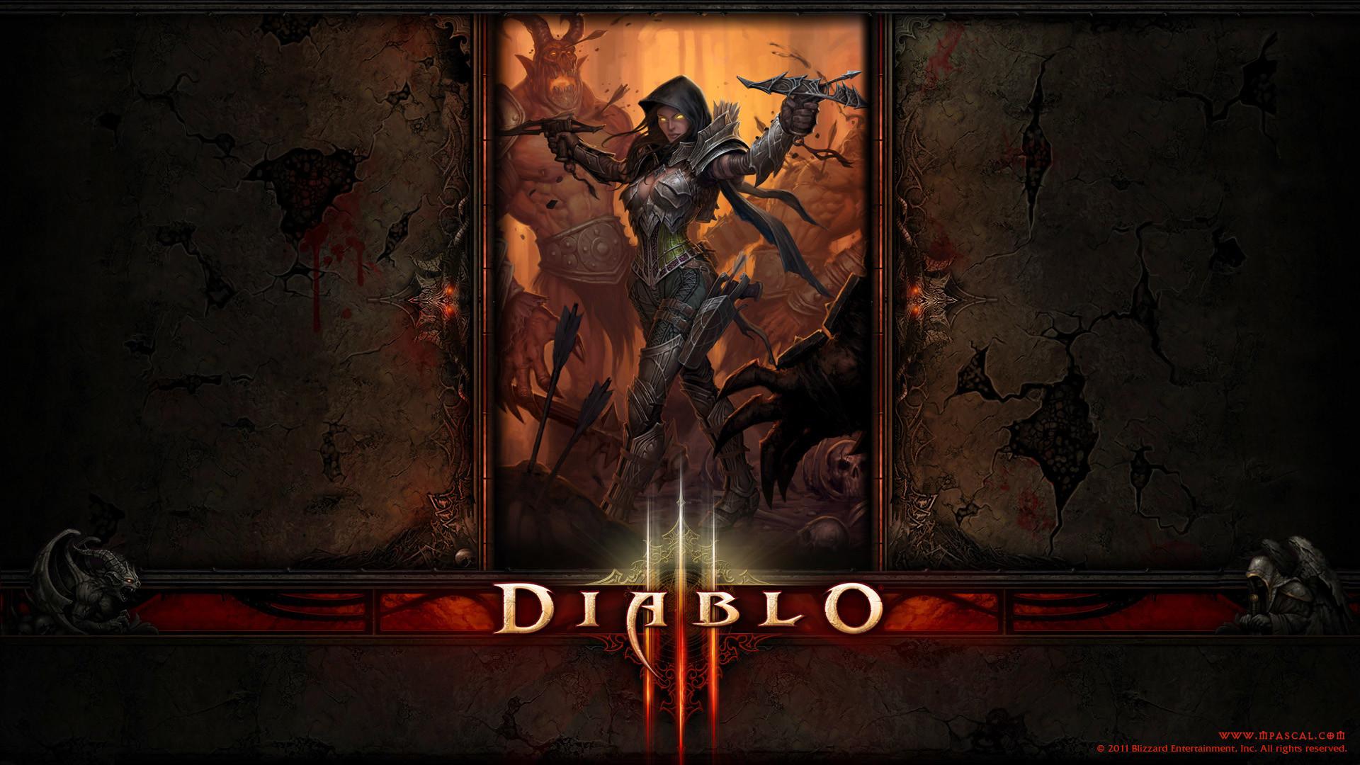 Res: 1920x1080, ... Diablo 3 demon Hunter wallpaper by Panperkin