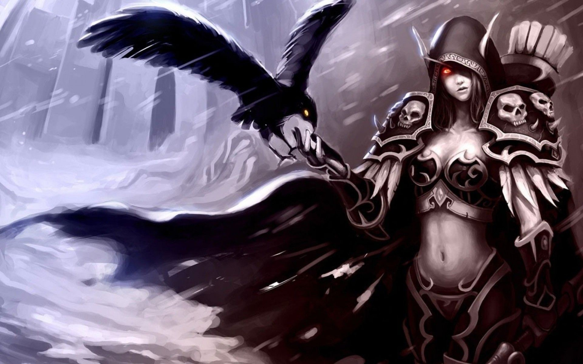 Res: 1920x1200, wow night elf female wallpaper | World Of Warcraft Blood Elf Bird Hand  Female
