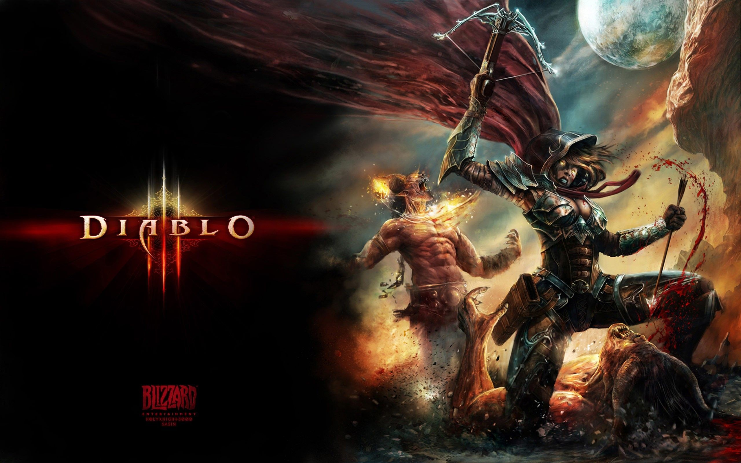 Res: 2560x1600, Download the Demon Hunter Diablo 3 Wallpaper, Demon Hunter Diablo .