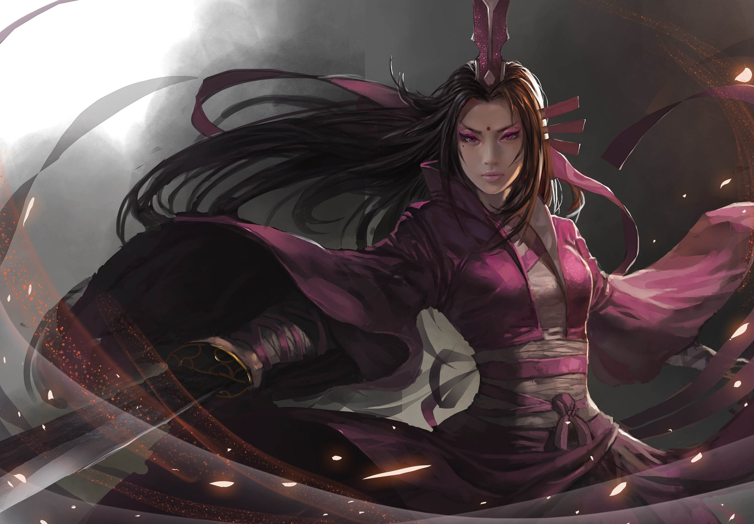Res: 3000x2085, Stunning Asian Female Warrior Backgrounds