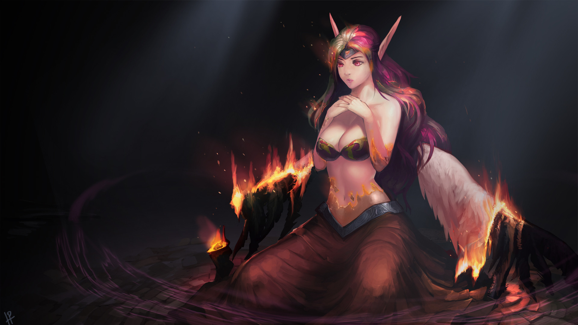 Res: 1920x1080, Burn the wings of a demon