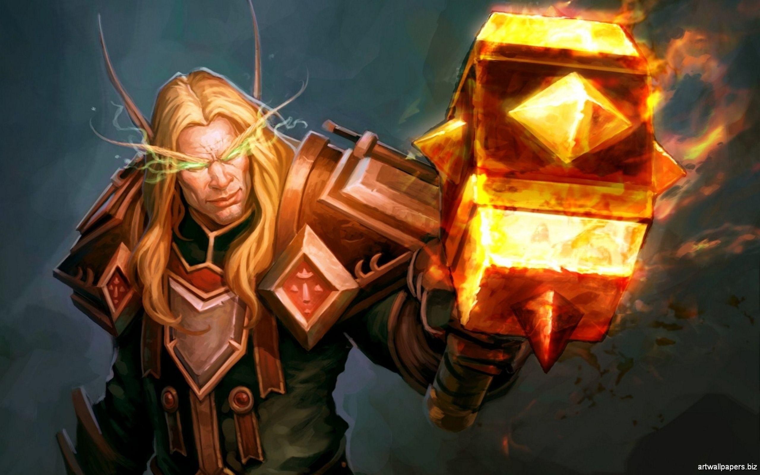 Res: 2560x1600, Blood Elf Video Games World Of Warcraft Fantasy Art Paladin Wallpaper