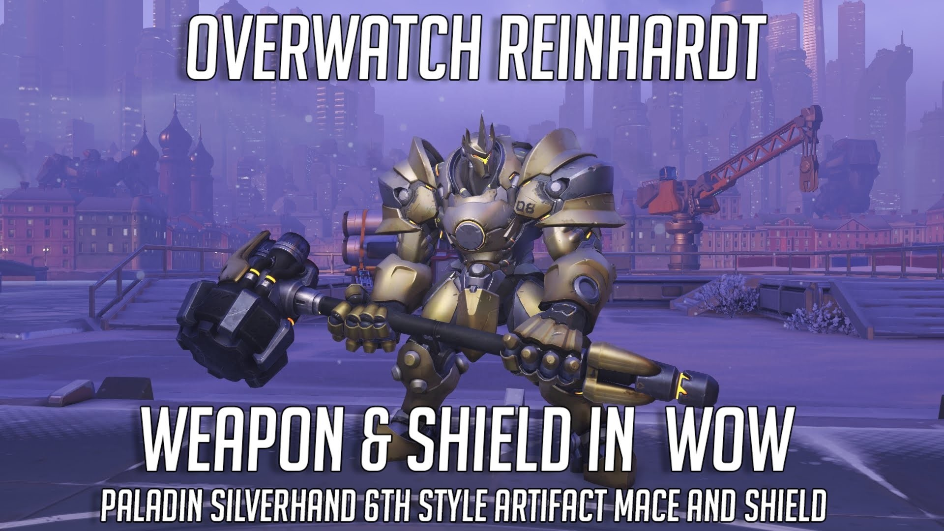 Res: 1920x1080, Reinhardt Mace & Shield Weapons in World of Warcraft