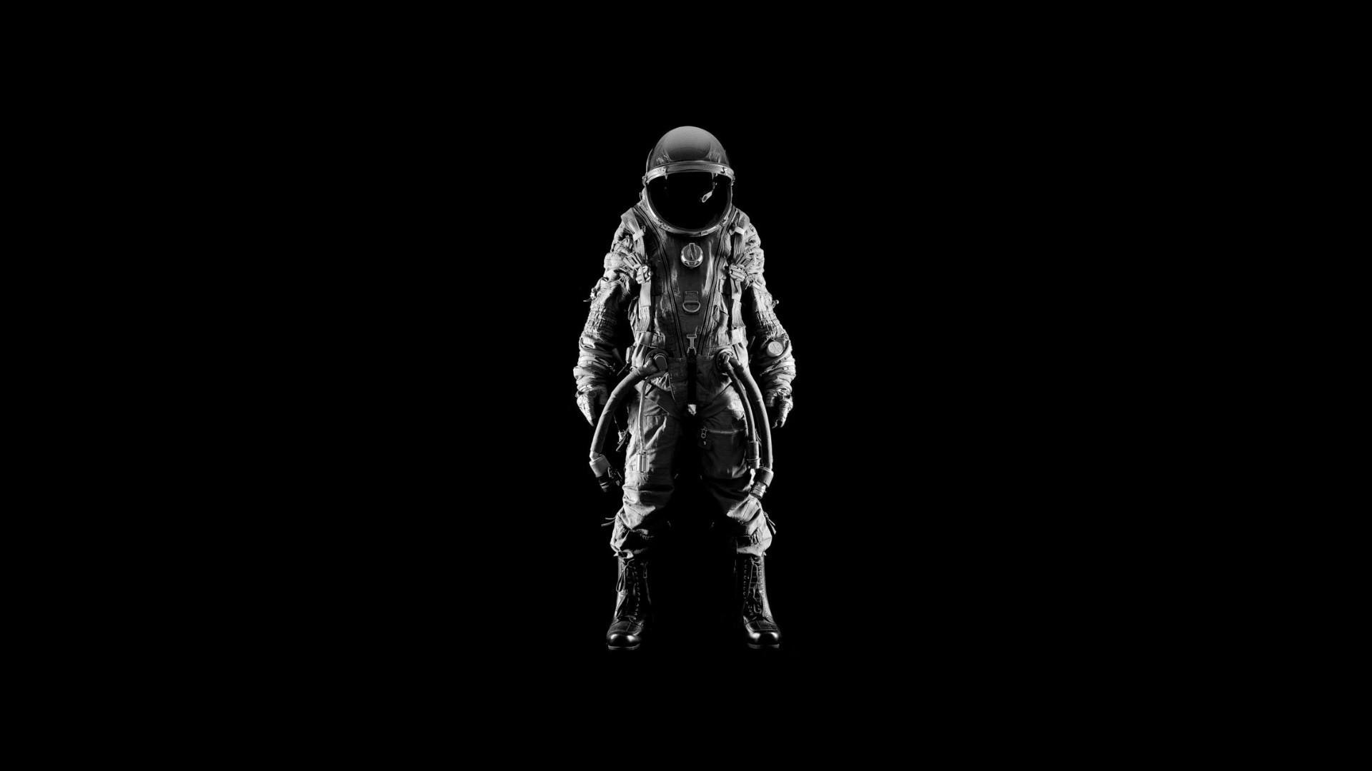 Res: 1920x1080, Men suit helmets simple background black astronaut wallpaper