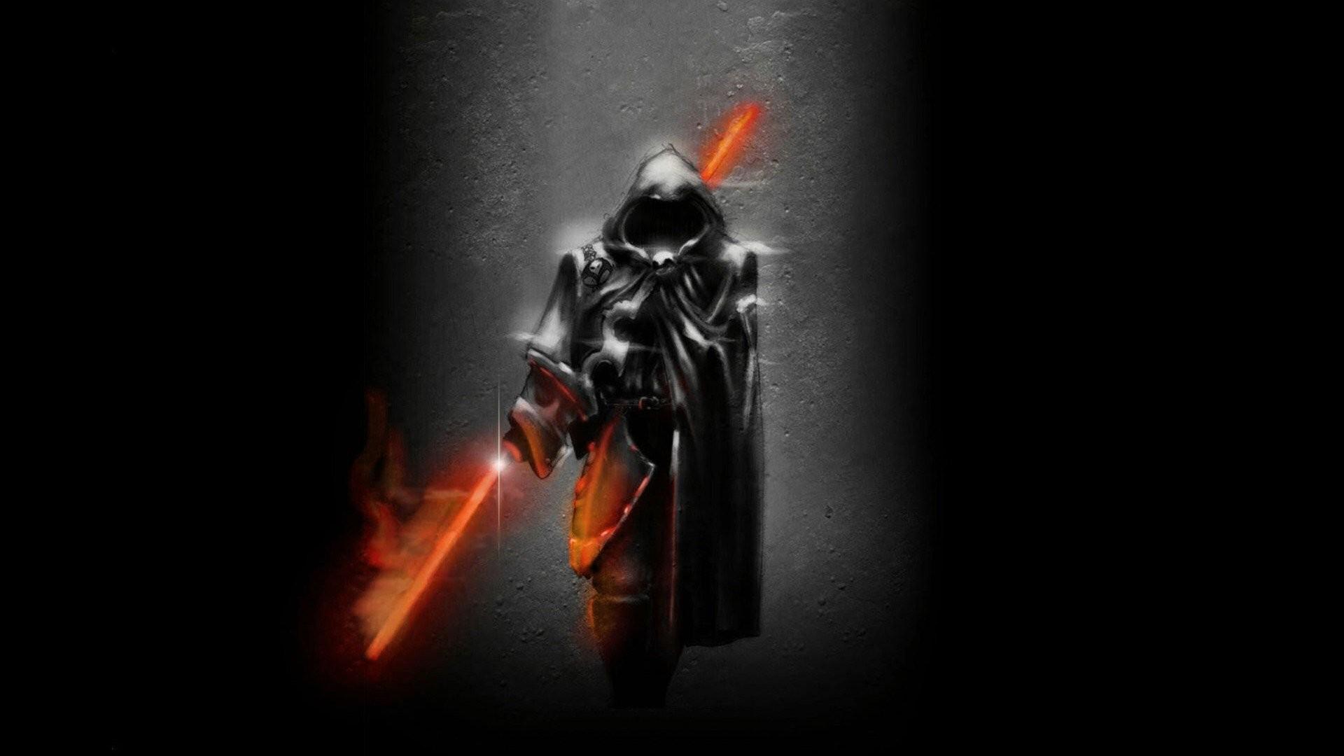 Res: 1920x1080, Black men digital art artwork warriors dark art light sabers wallpaper |   | 345711 | WallpaperUP