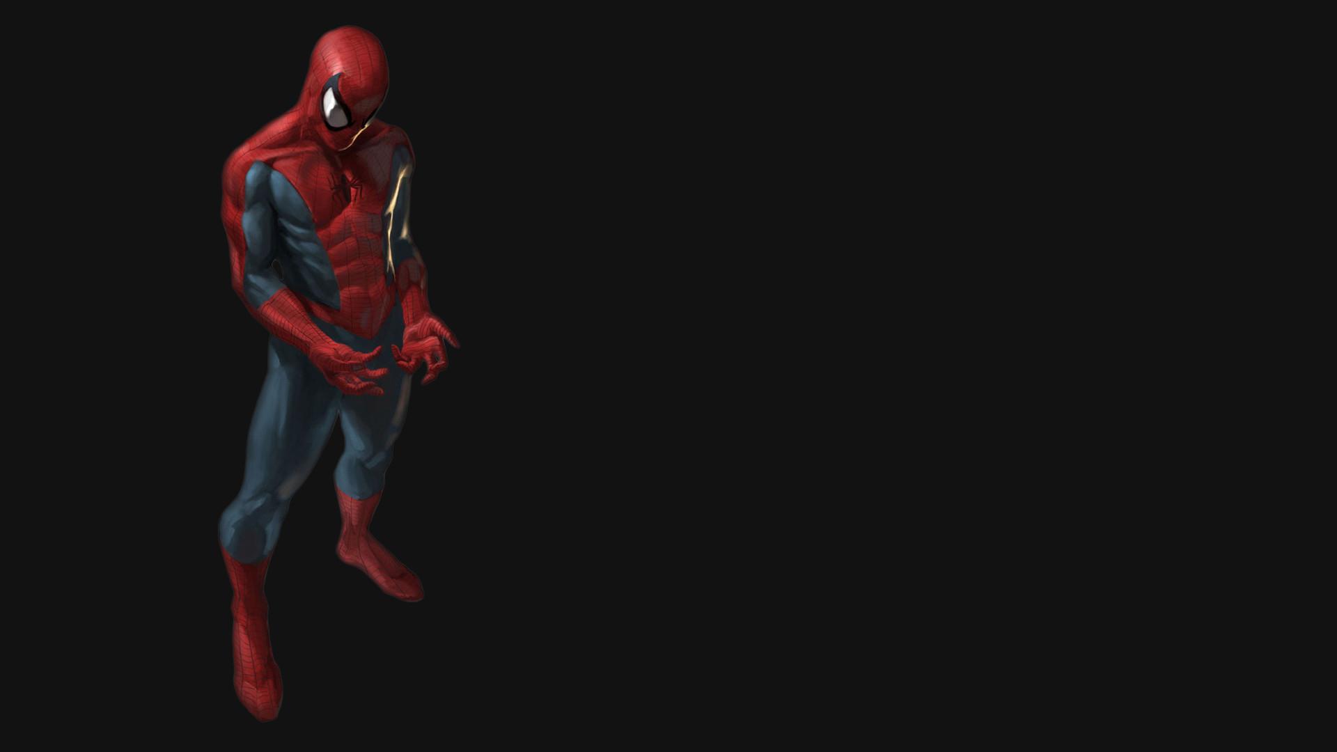 Res: 1920x1080, Spider man 3D Black Wallpaper