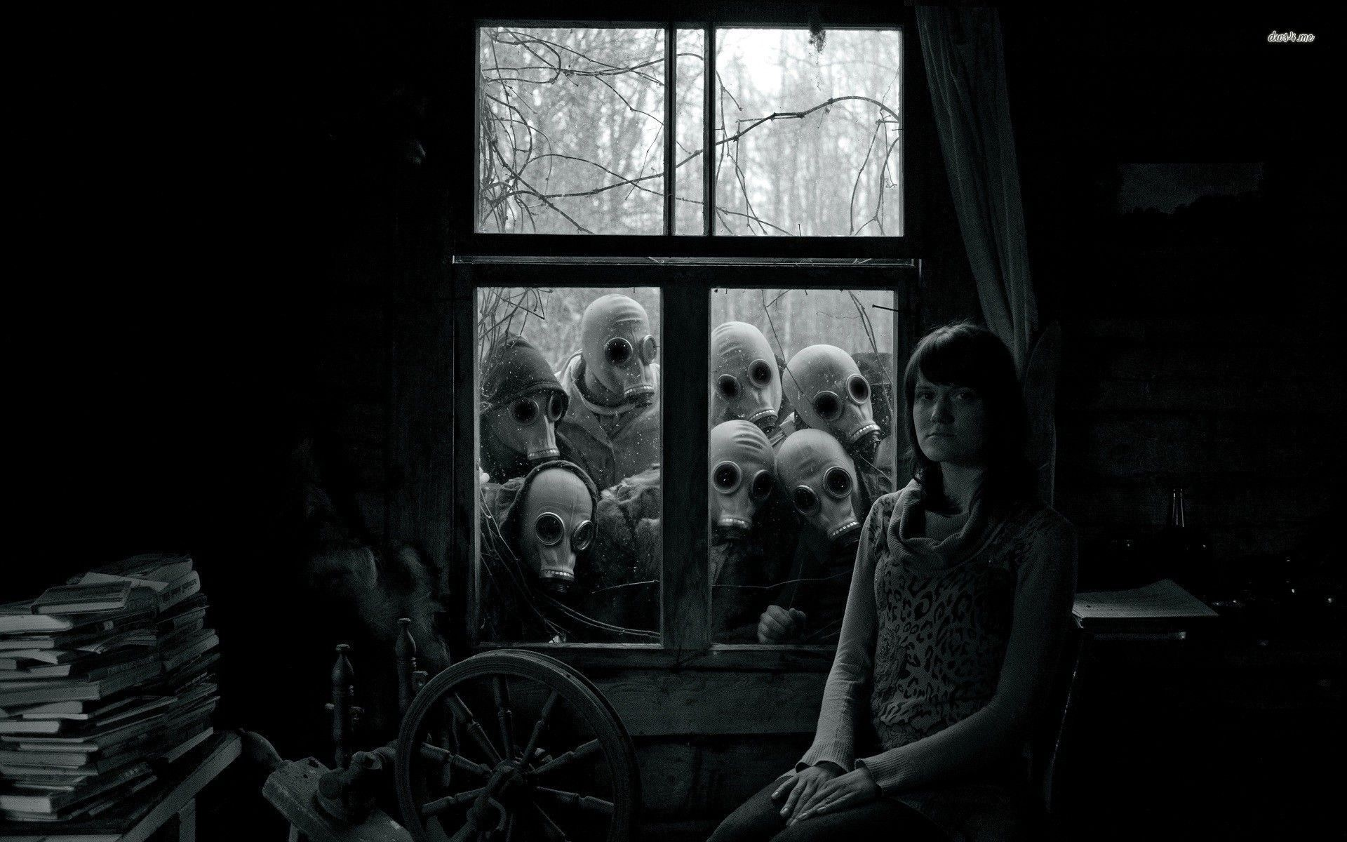Res: 1920x1200, Facing the men in gas masks wallpaper - Photography wallpapers .