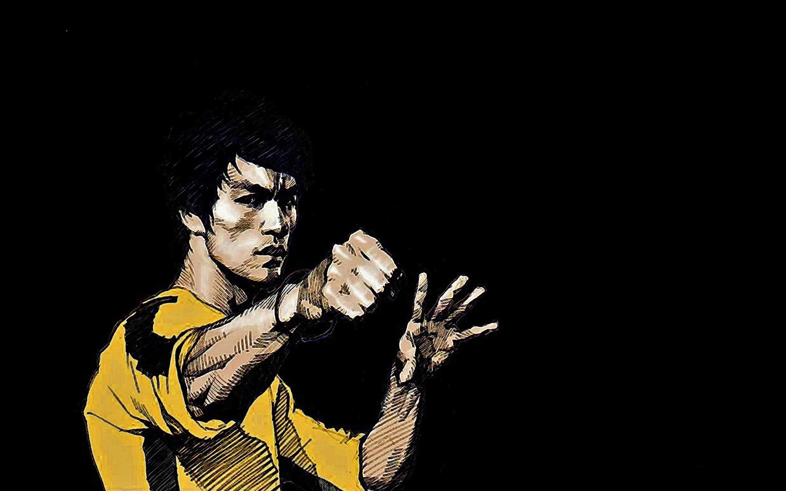 Res: 2560x1600, wallpaper Bruce Lee · dark · men