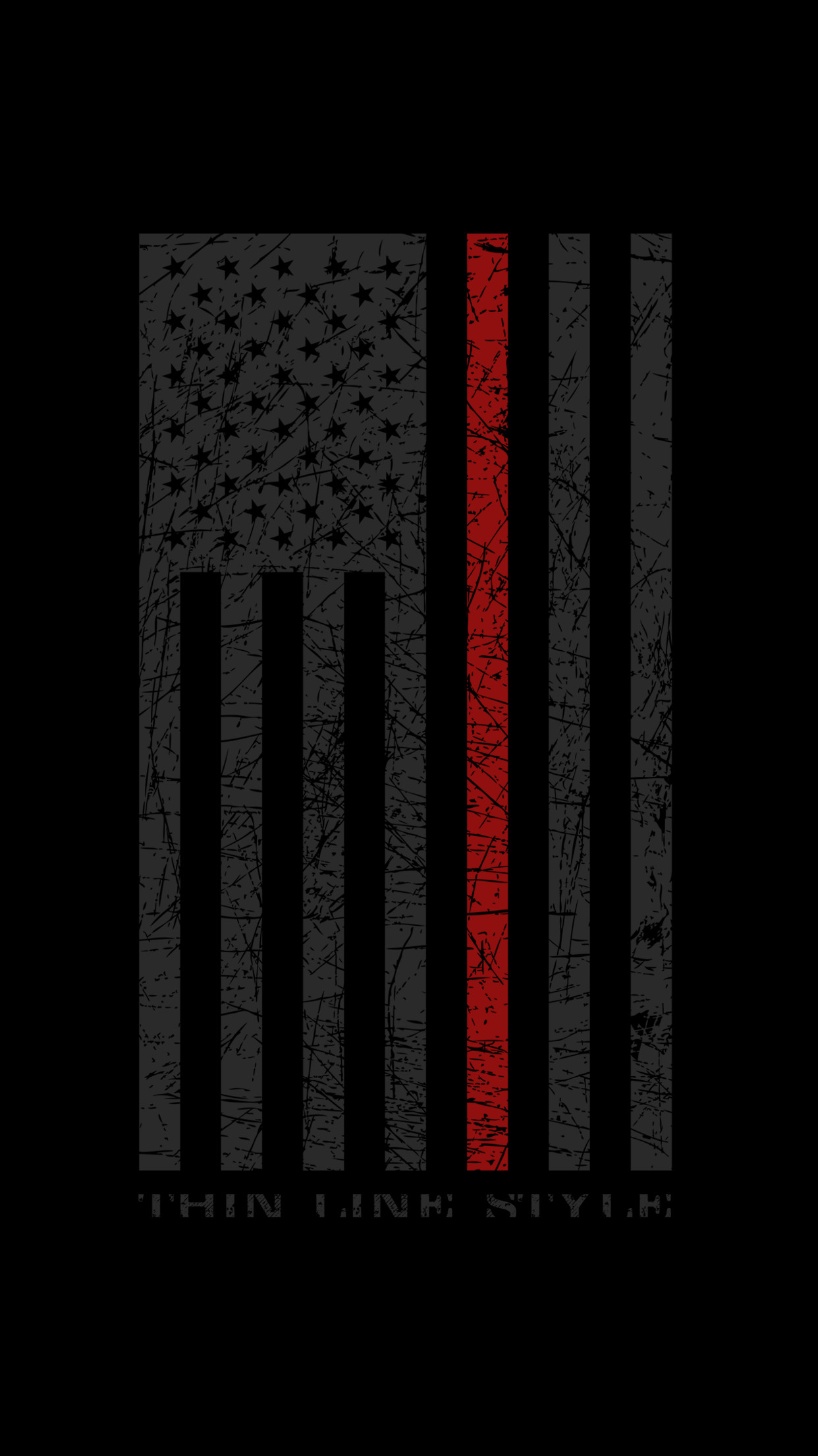 Res: 1242x2208, Up Thin Red Line Flag T-Shirt