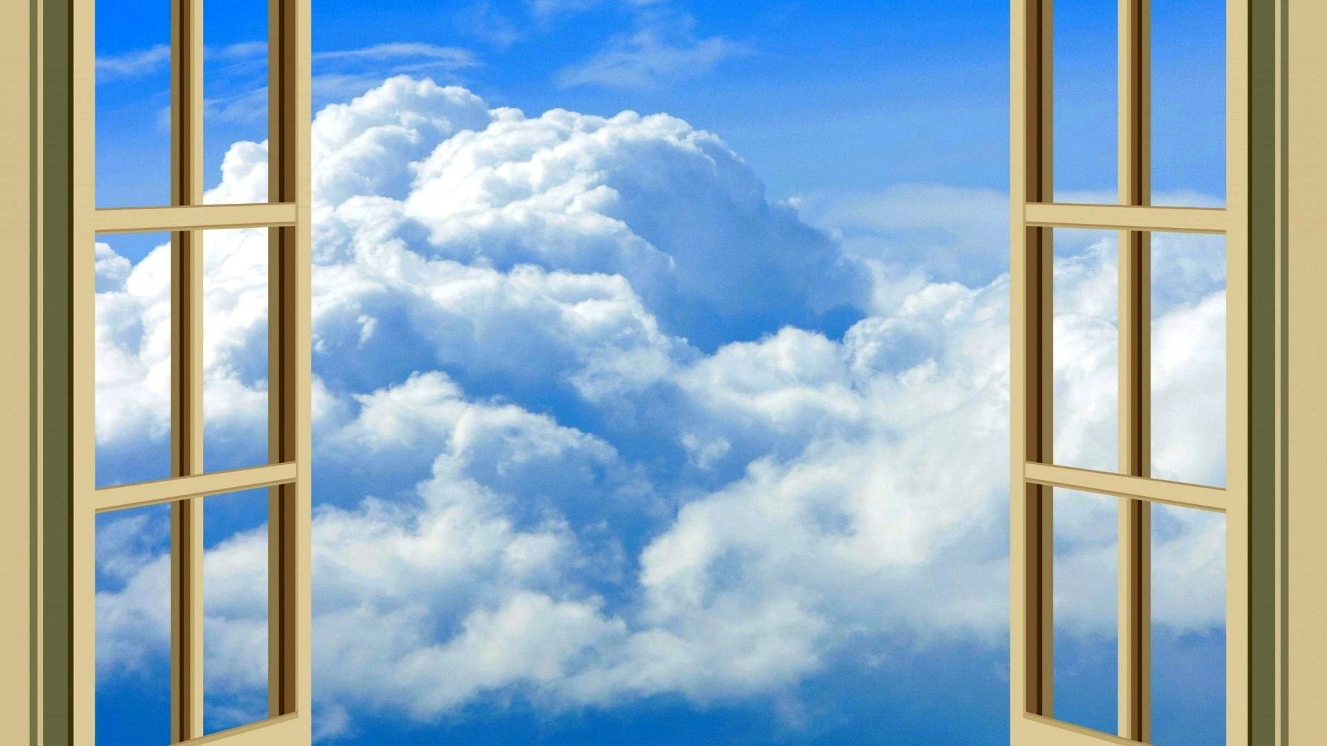 Res: 1920x1080, Sky Opened Window Nature Clouds Open Wallpaper Free : Sky for HD 16:9 High